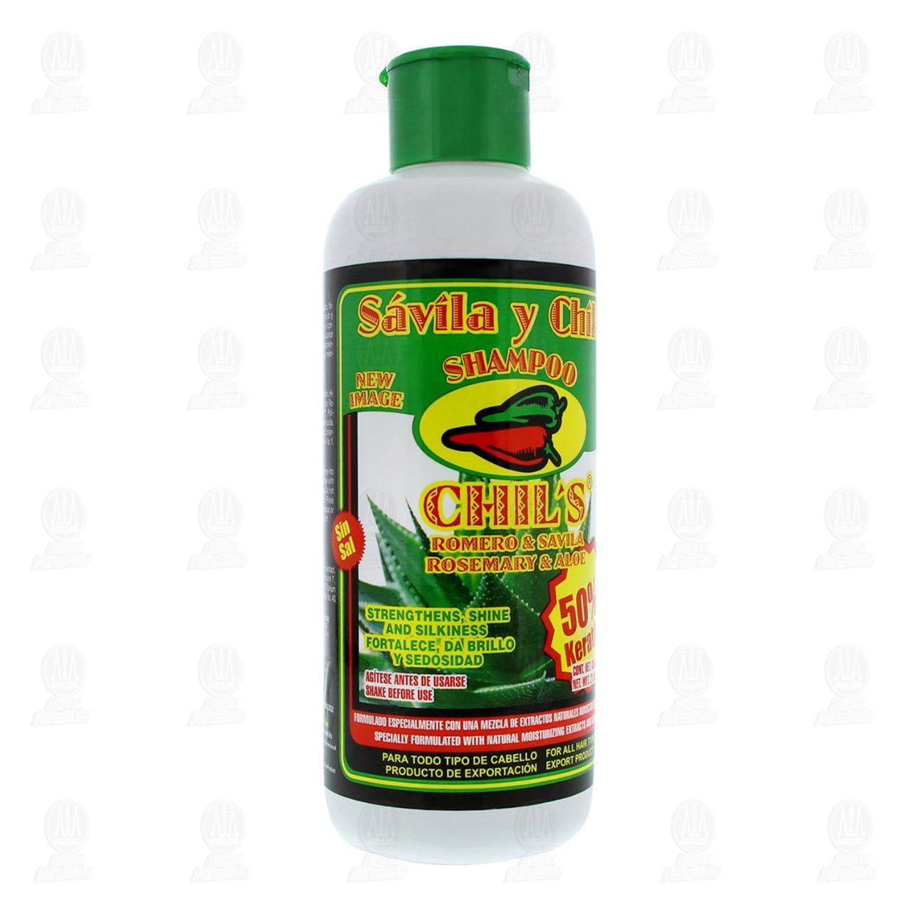 Comprar Shampoo Chil's con Sábila y Chile para Todo Tipo de Cabello, 650 ml. en Farmacias Guadalajara
