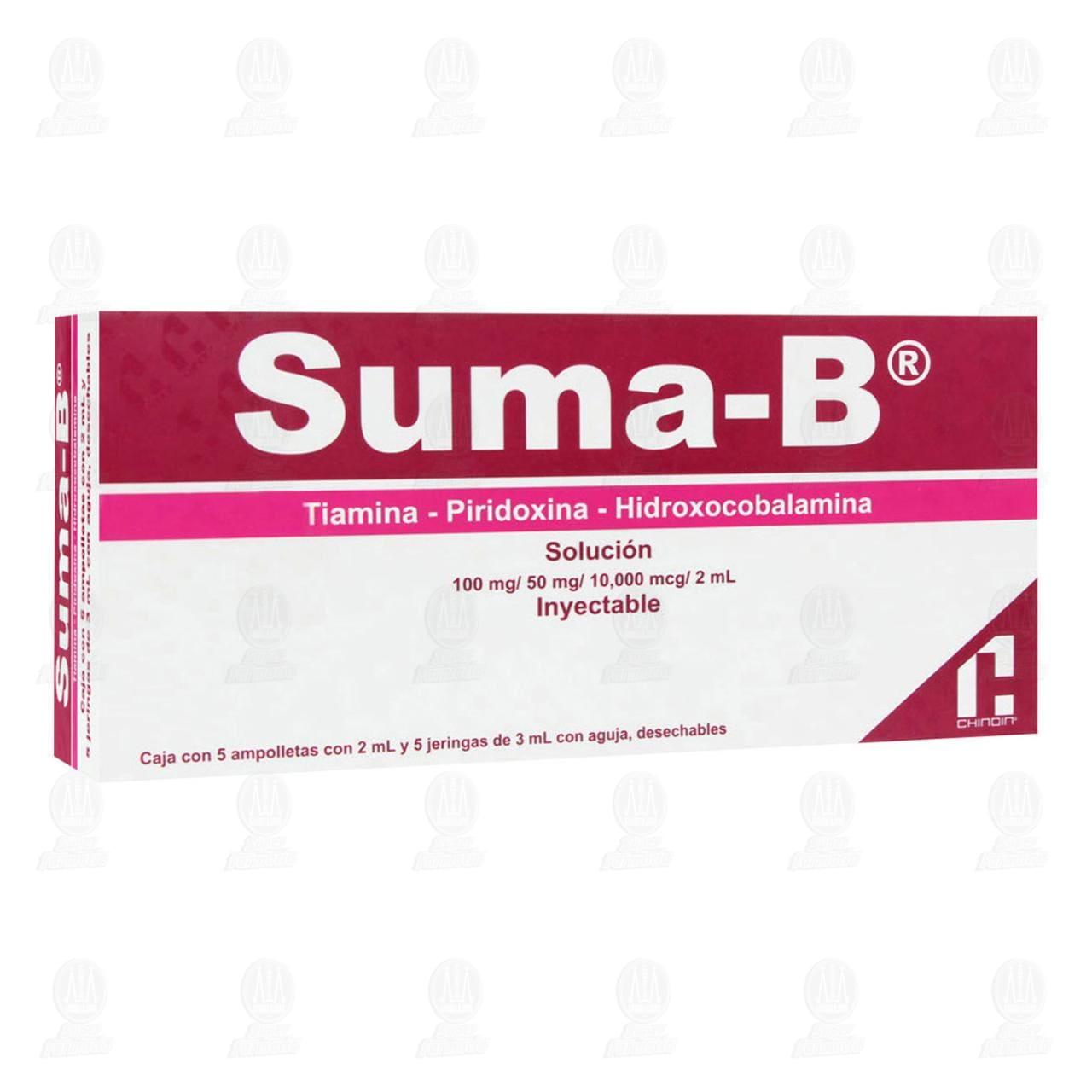 Comprar Suma-B 2ml 5 Ampolletas 5 Jeringas en Farmacias Guadalajara