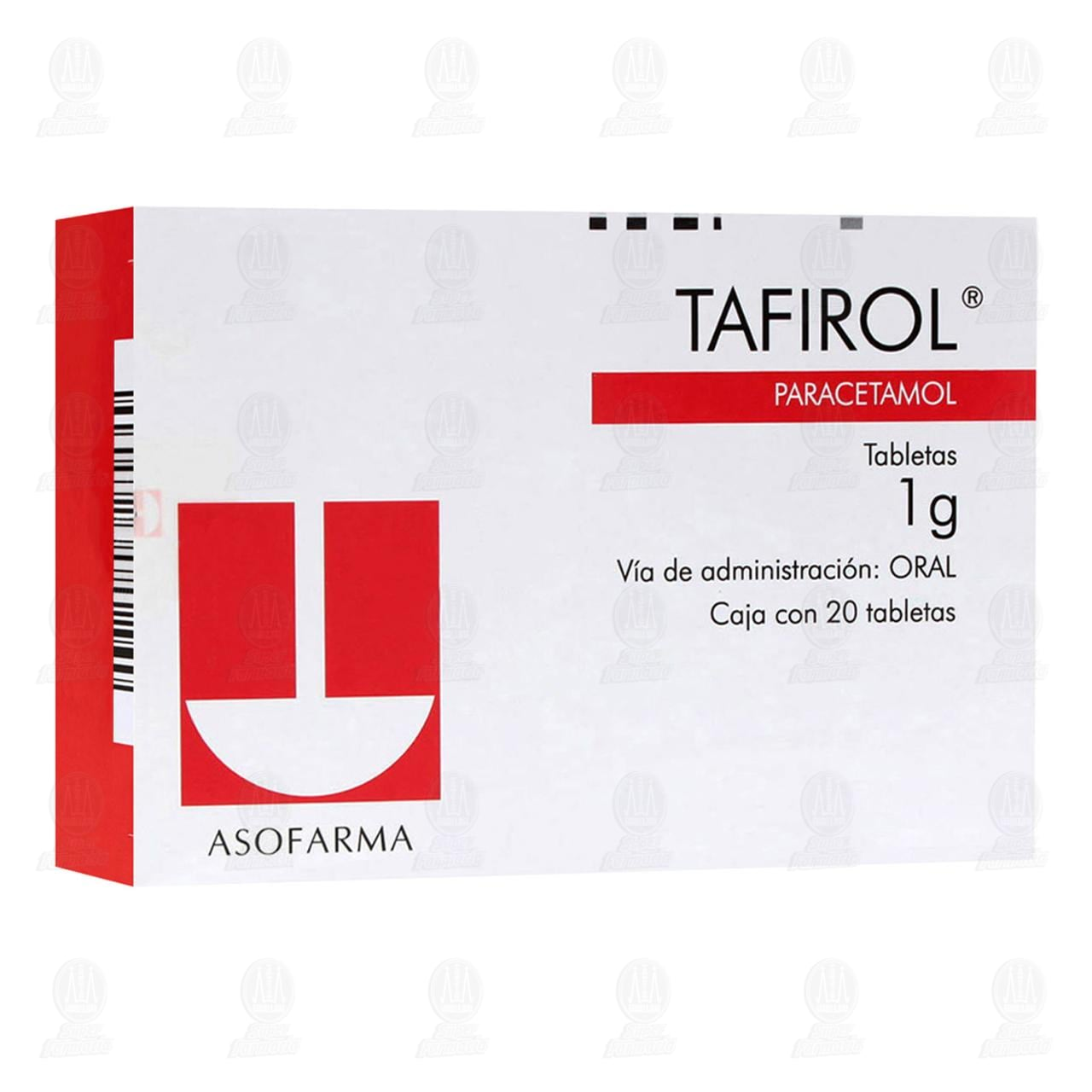 Comprar Tafirol 1gr 20 Tabletas en Farmacias Guadalajara