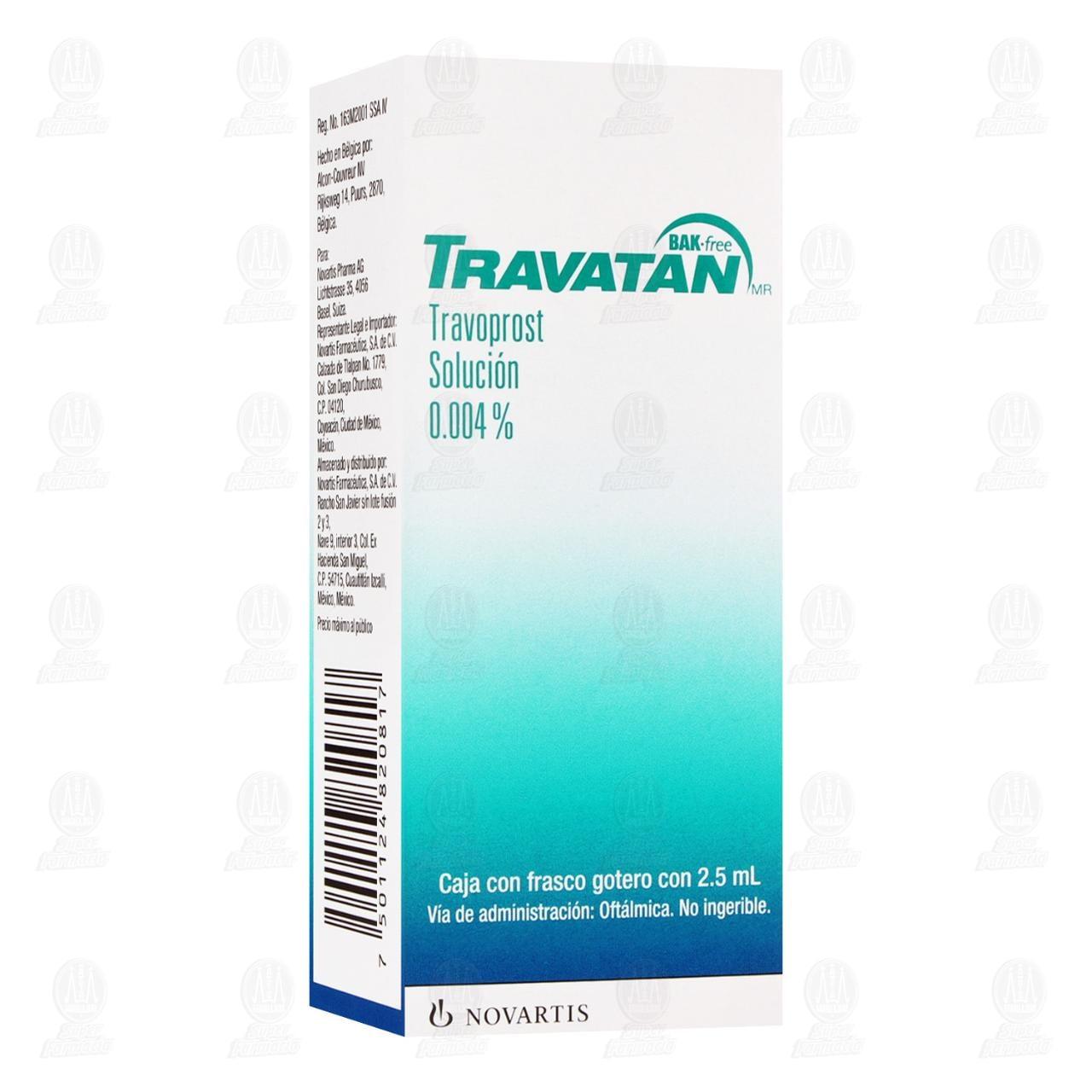Comprar Travatan 0.004% 2.5ml Solución Oftálmica en Farmacias Guadalajara