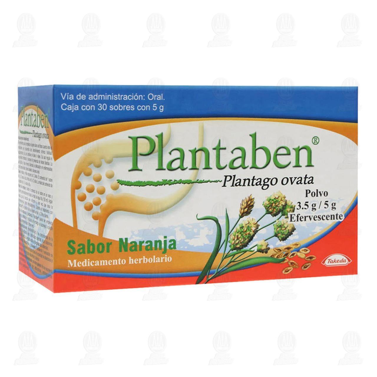 Plantaben 5gr 30 Sobres Polvo Efervescente Sabor Naranja