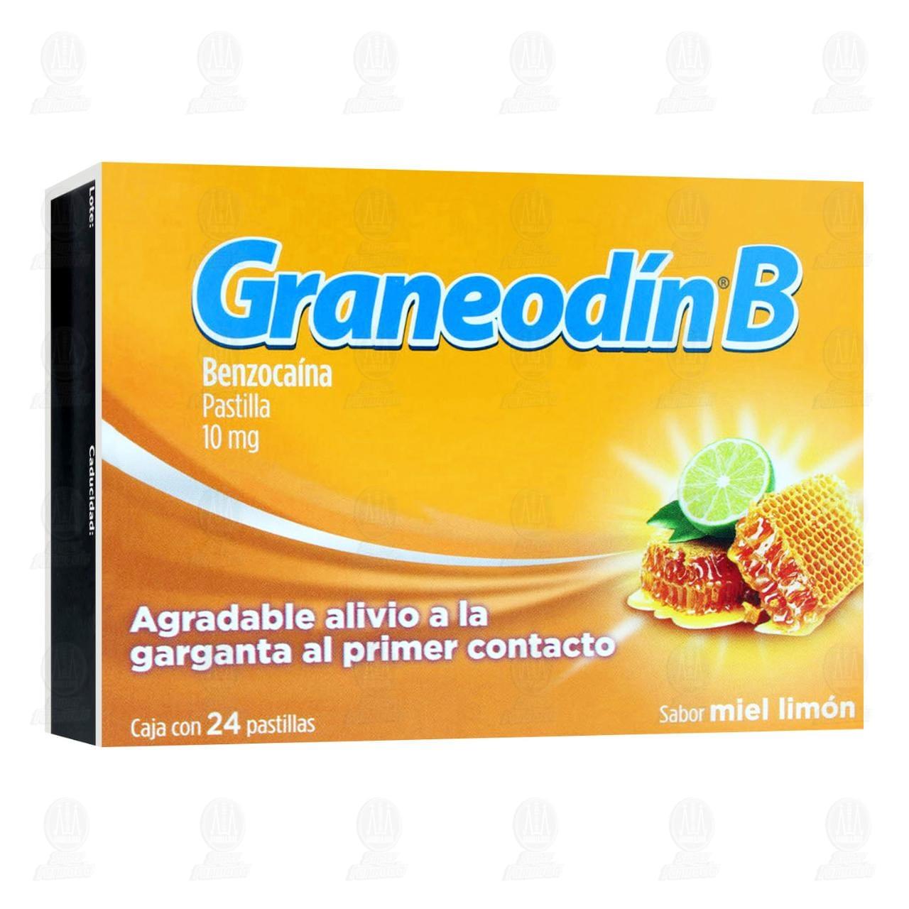 Comprar Graneodín B Sabor Miel Limón 24 Pastillas en Farmacias Guadalajara