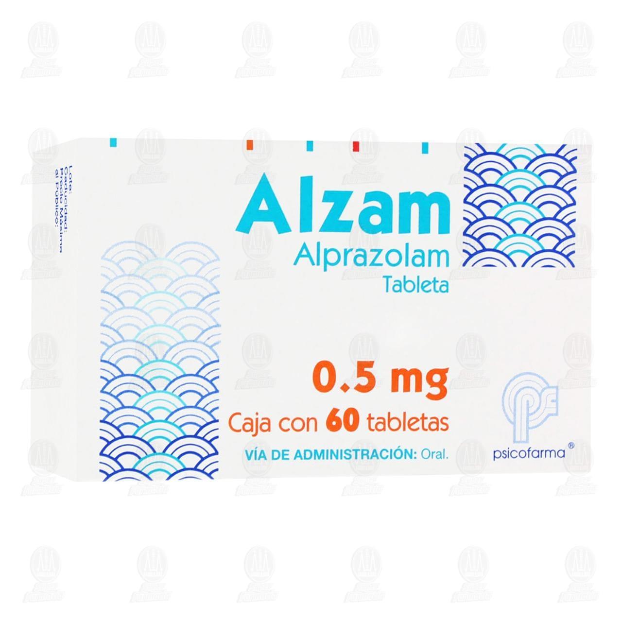 Comprar Alzam 0.5mg 60 Tabletas en Farmacias Guadalajara