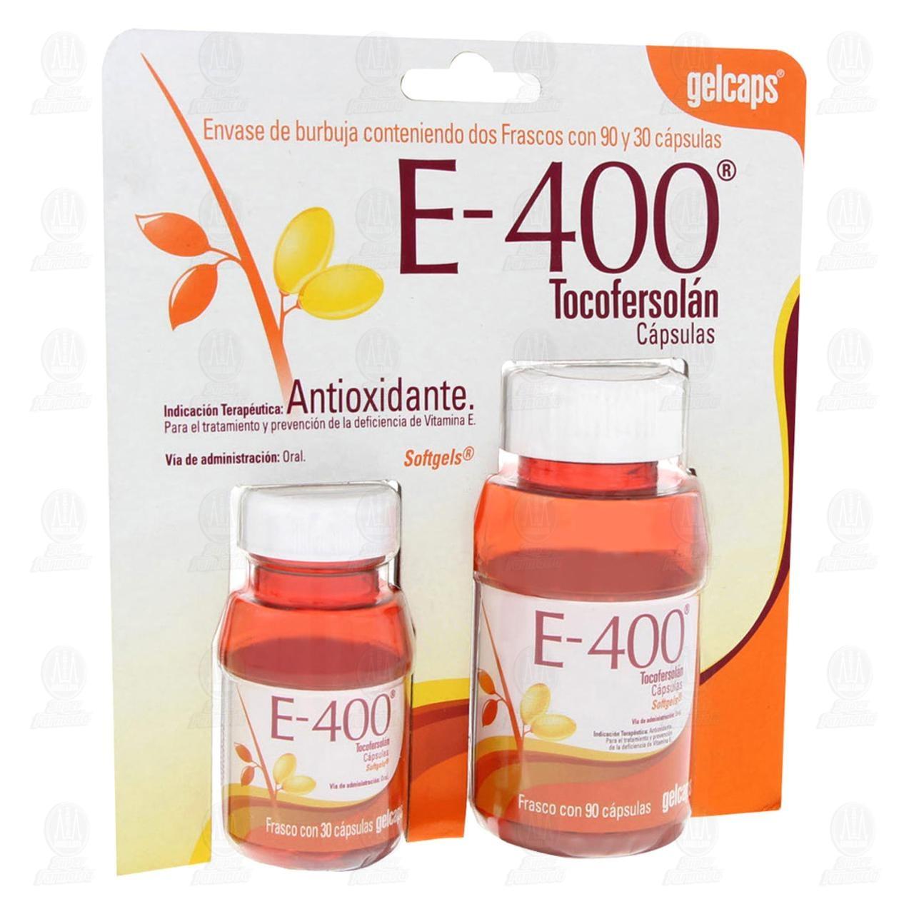 Comprar Vitamina E-400 Duo 90+30 Cápsulas Gelcaps en Farmacias Guadalajara