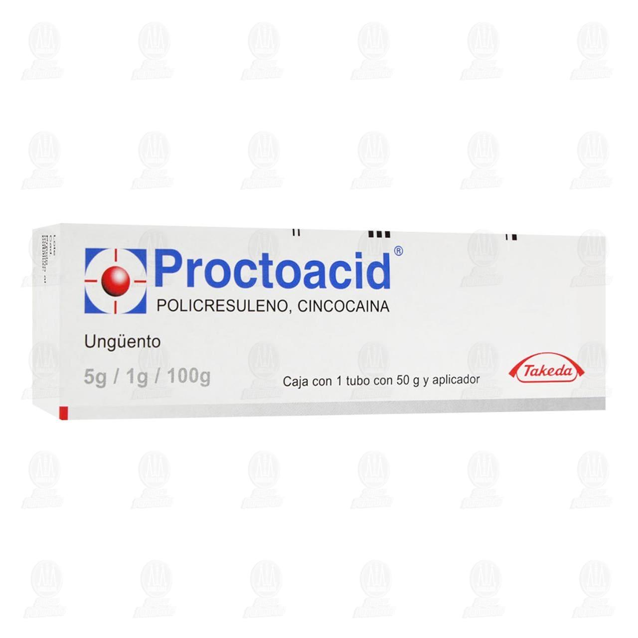 Comprar Proctoacid UngÜento 5gr/1gr/100gr 50gr y Aplicador en Farmacias Guadalajara
