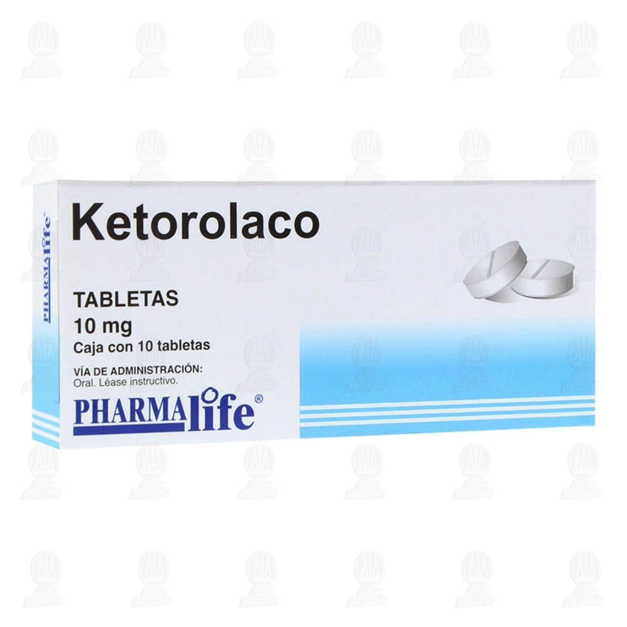 Comprar Ketorolaco 10mg 10 Tabletas Pharmalife en Farmacias Guadalajara
