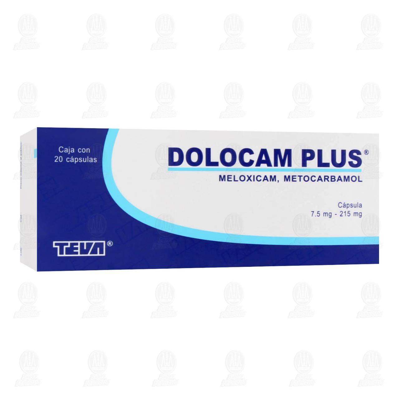 Comprar Dolocam Plus 7.5mg / 215mg 20 Cápsulas en Farmacias Guadalajara