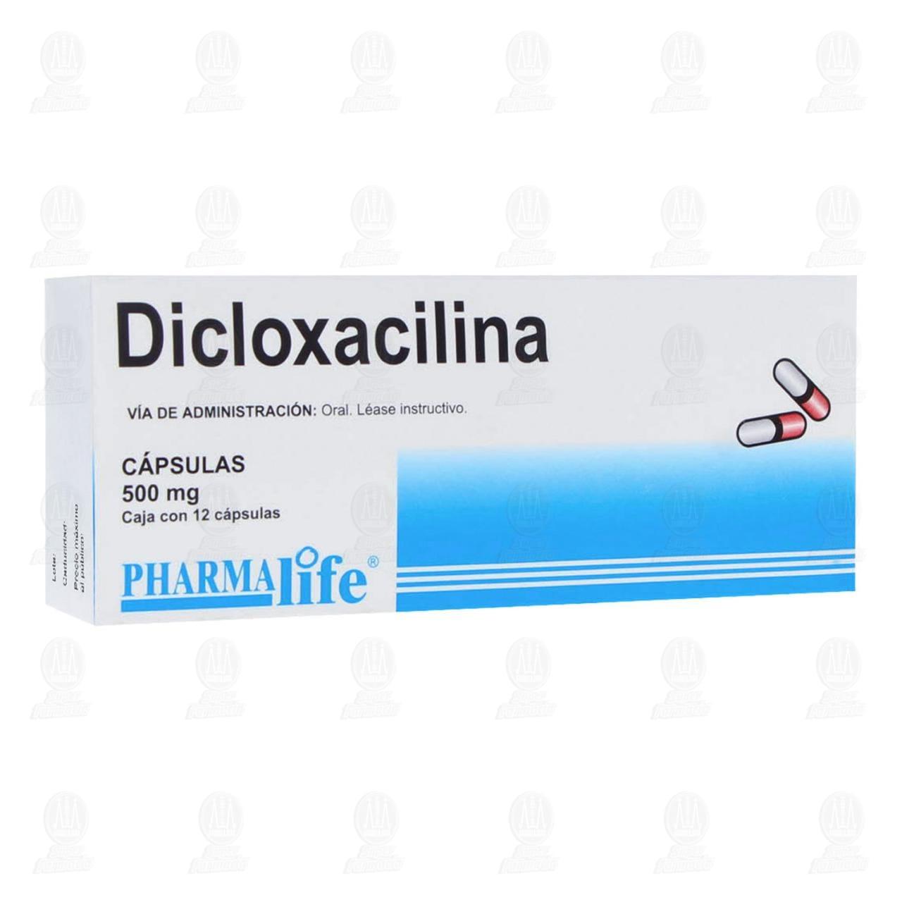 Comprar Dicloxacilina 500mg 12 Cápsulas Pharmalife en Farmacias Guadalajara