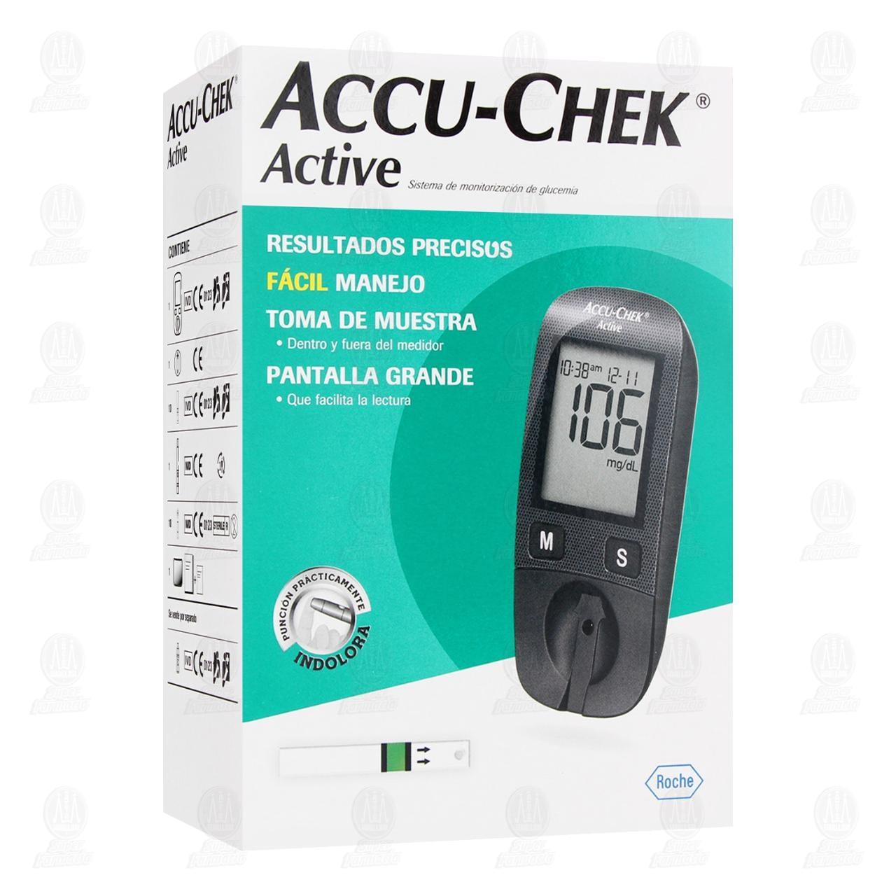 Comprar Accu-chek Active Sistema Estuche para Medición de Glucosa en Farmacias Guadalajara