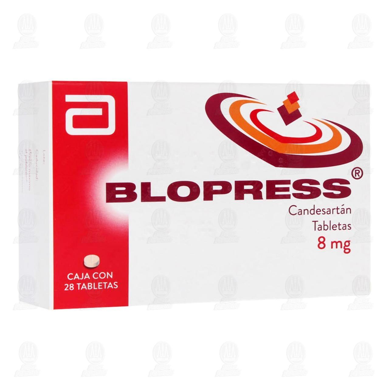 Comprar Blopress 8mg 28 Tabletas en Farmacias Guadalajara