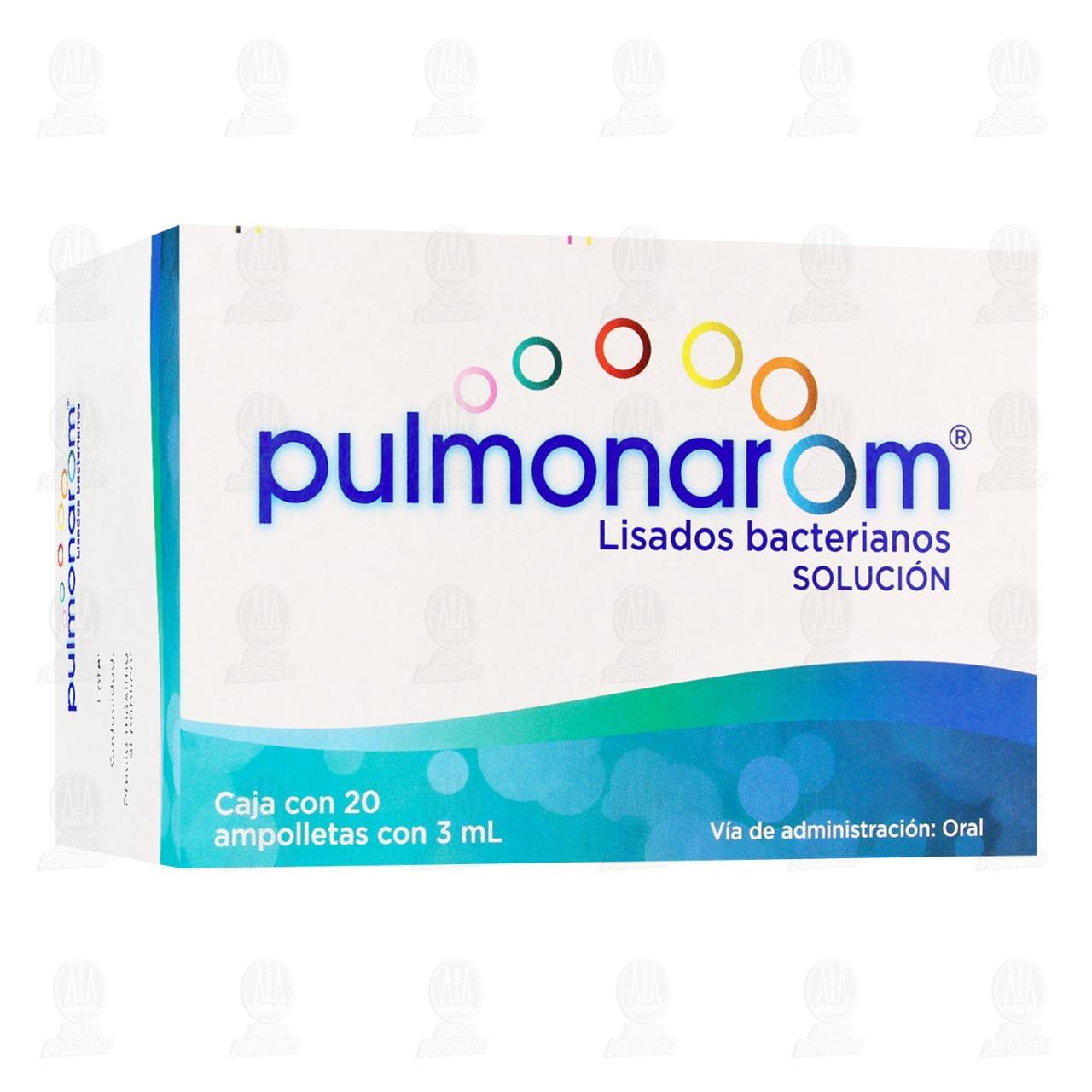 Pulmonarom Solución Ingerible 3ml Ampolletas Caja con 20