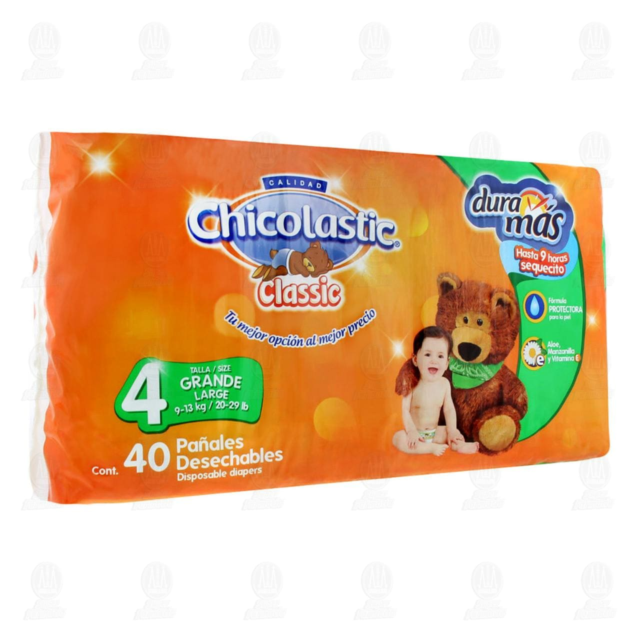 Comprar Pañales para Bebé Chicolastic Classic Desechables Unisex Talla 4 G, 40 pzas. en Farmacias Guadalajara