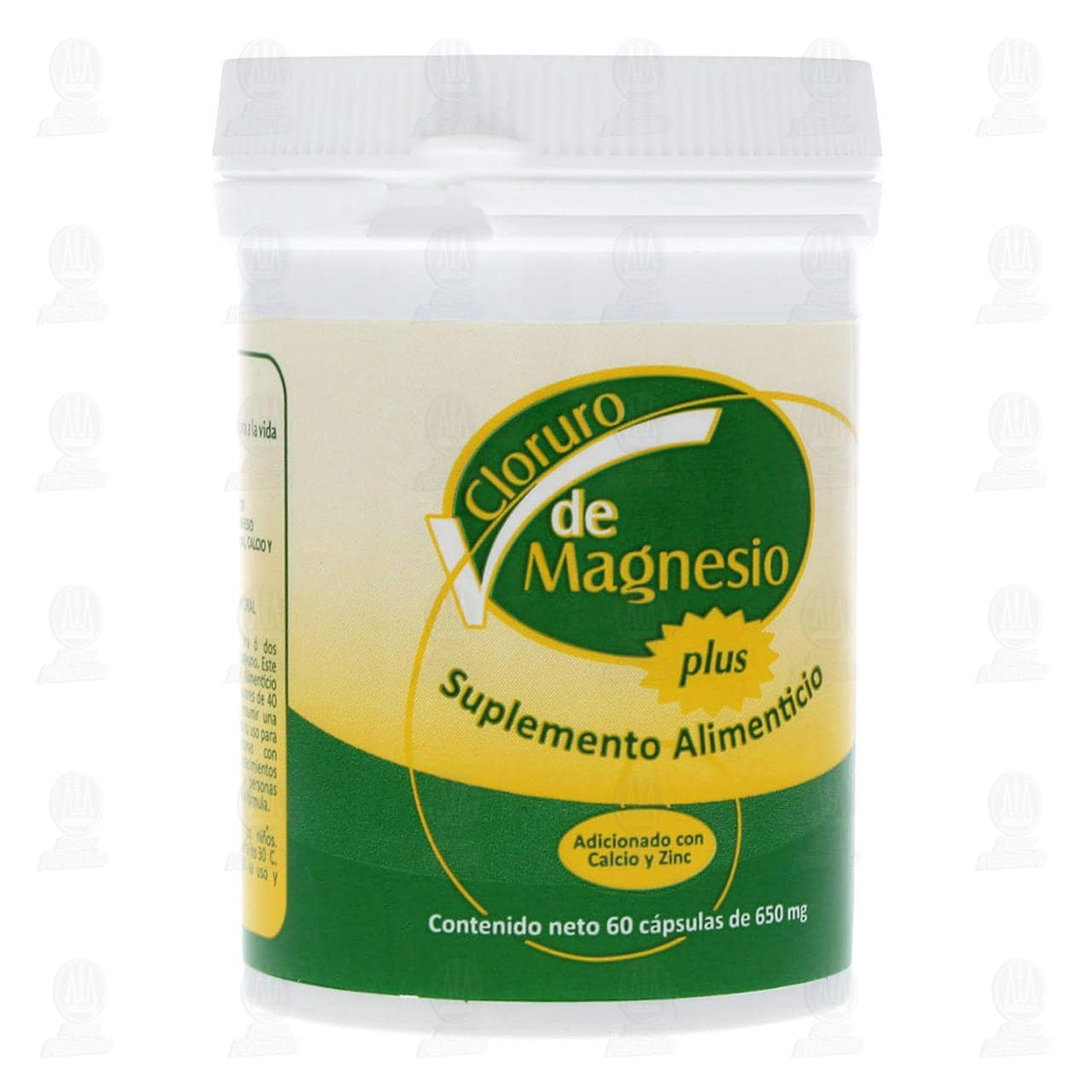 Comprar Cloruro de Magnesio Plus 650mg 60 Cápsulas en Farmacias Guadalajara