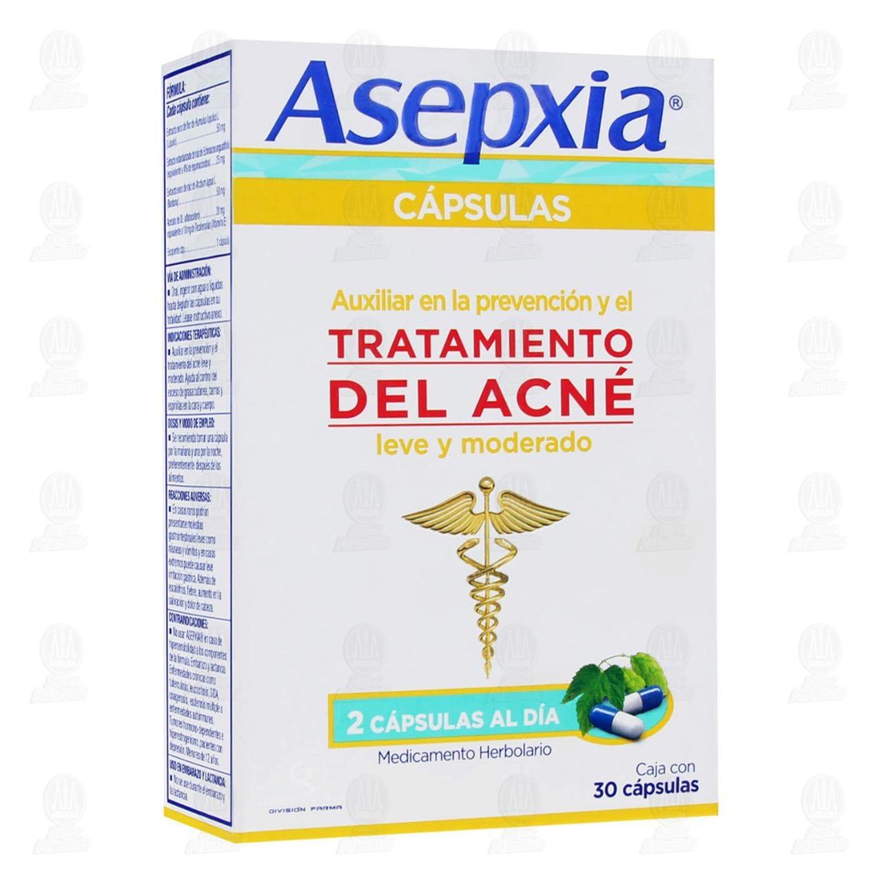 Comprar Asepxia 30 Cápsulas en Farmacias Guadalajara