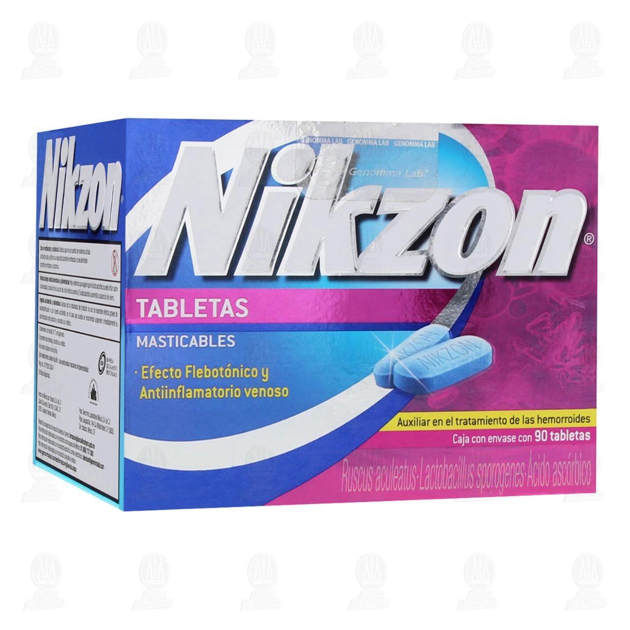 Comprar Nikzon 90 Tabletas Masticables en Farmacias Guadalajara
