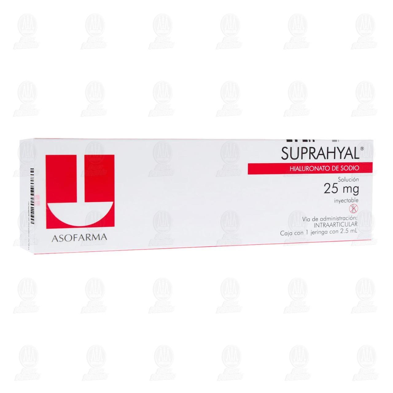 Comprar Suprahyal 25mg 2.5ml Jeringa Solución Inyectable en Farmacias Guadalajara