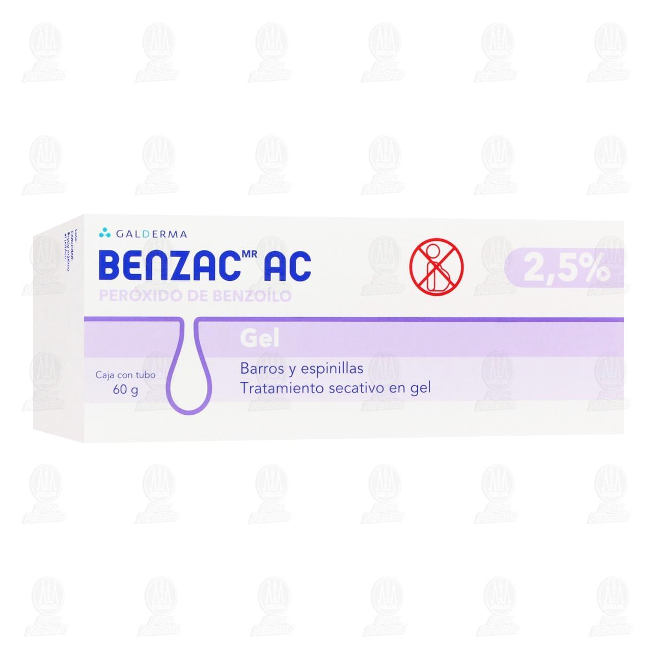Comprar Benzac AC Gel 2.5%, 60 gr. en Farmacias Guadalajara