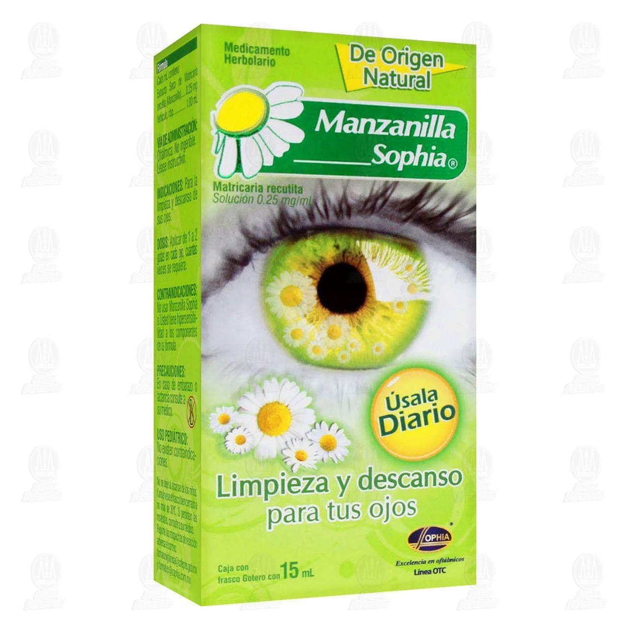 Comprar Manzanilla Sophia 0.25mg/ml 15ml Solución Gotas en Farmacias Guadalajara