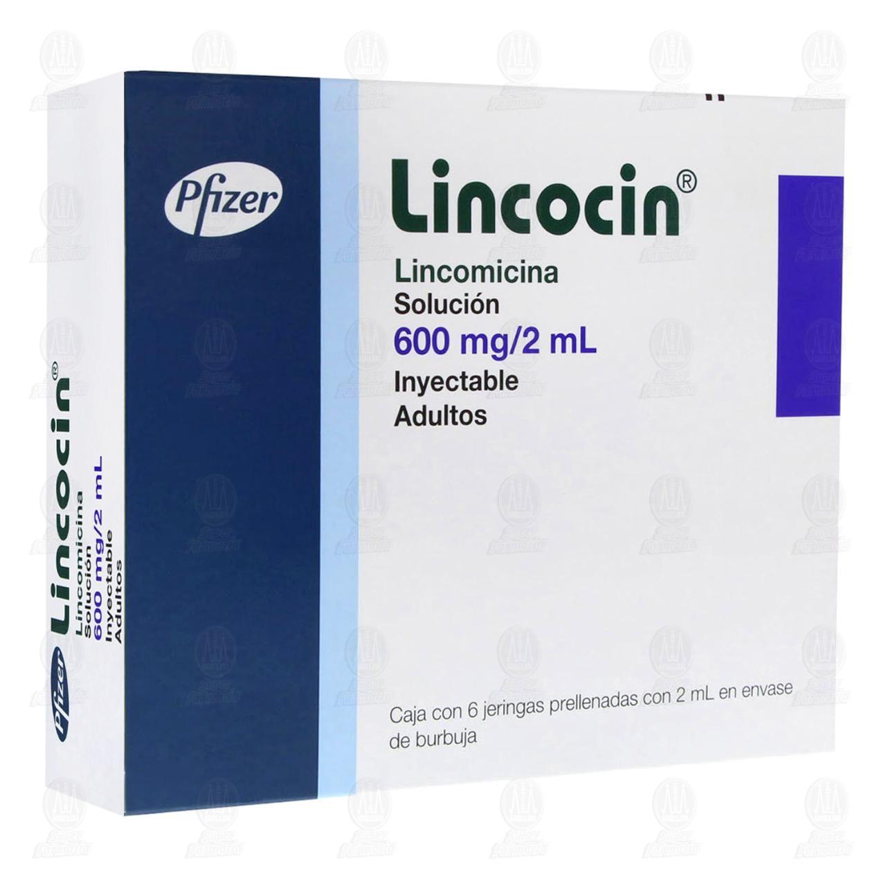 Comprar Lincocin 600mg/2ml 6 Jeringas Prellenadas en Farmacias Guadalajara