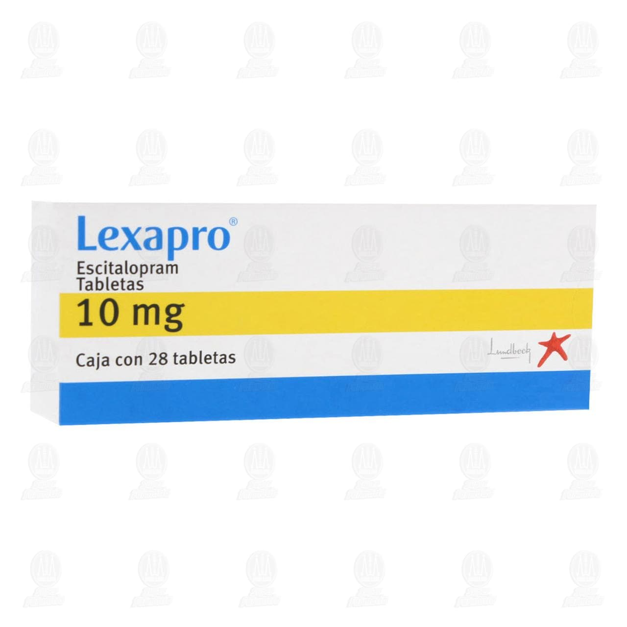 Lexapro 10mg 28 Tabletas