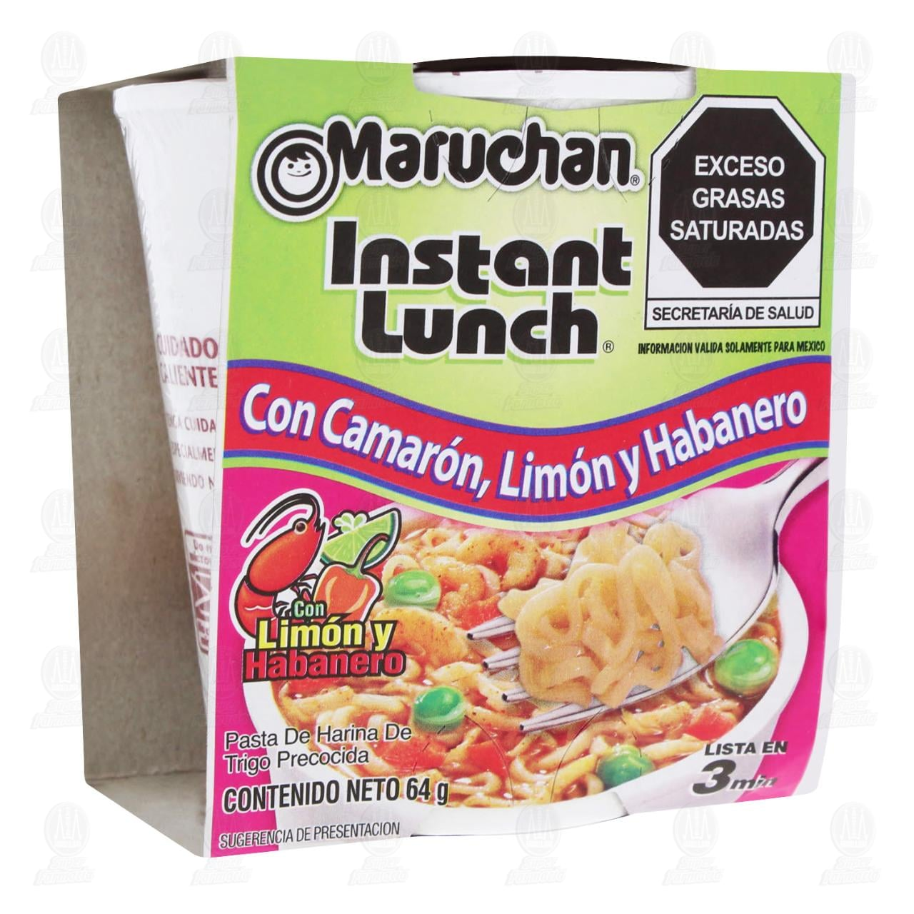 Pasta Maruchan Instant Lunch con Camarón, Limón y Habanero, 64 gr.
