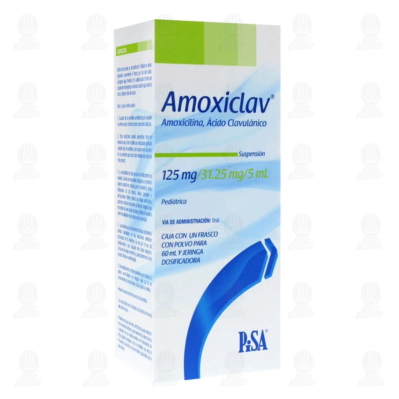 Comprar Amoxiclav 125mg/31.25/5ml 60ml Suspensión Pediátrica en Farmacias Guadalajara