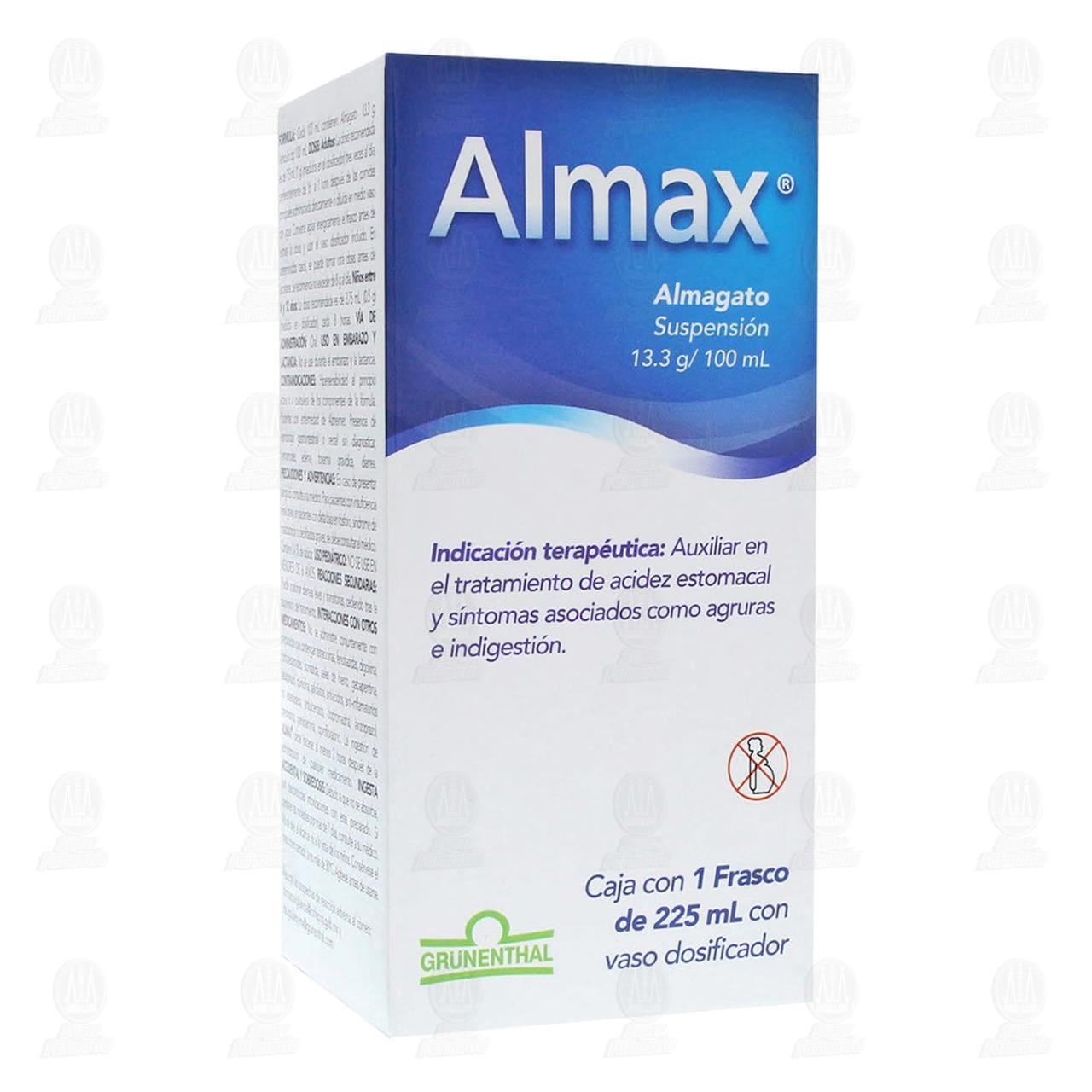 Comprar Almax 13.3g/100ml 225ml Suspensión en Farmacias Guadalajara