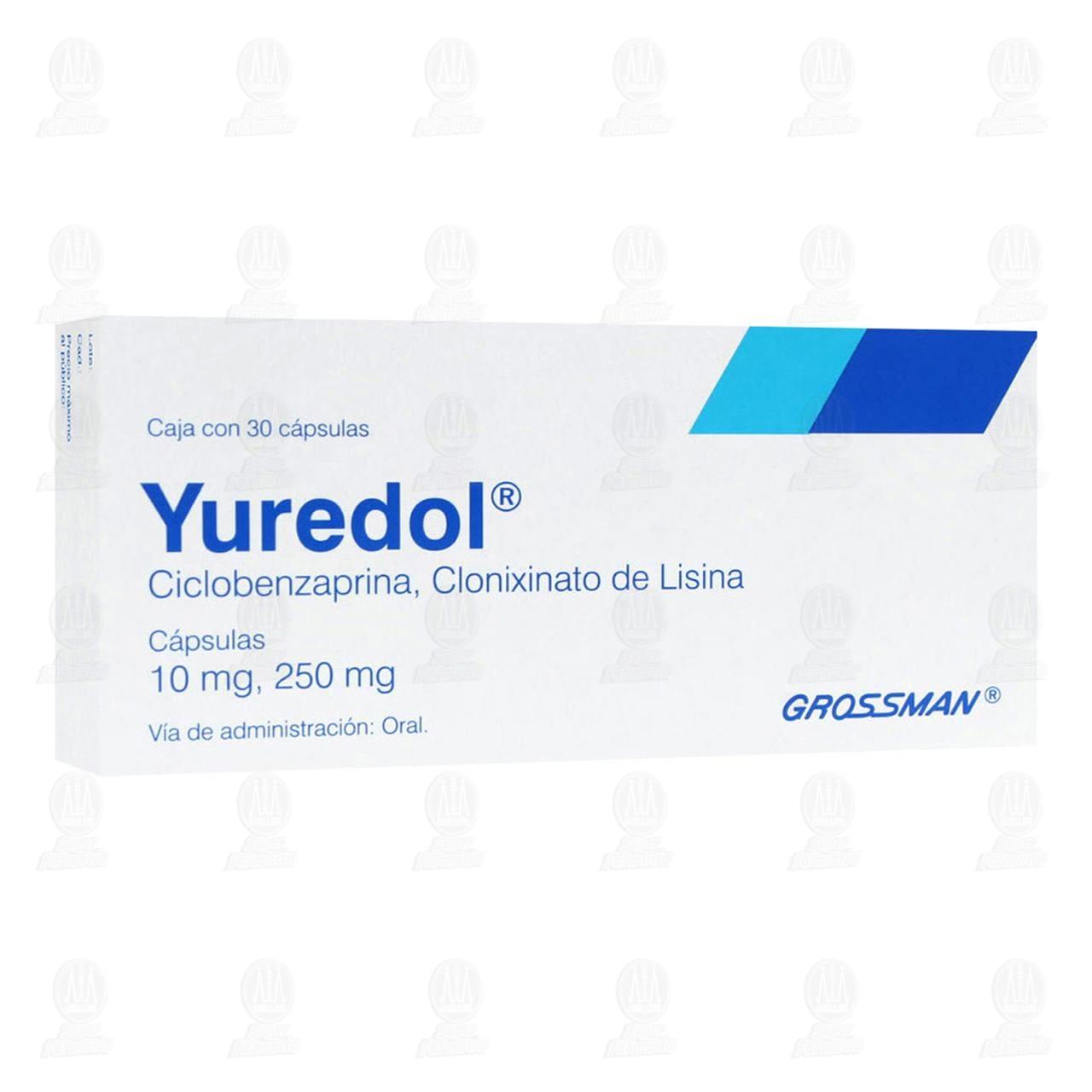 Comprar Yuredol 10mg/250mg 30 Cápsulas en Farmacias Guadalajara