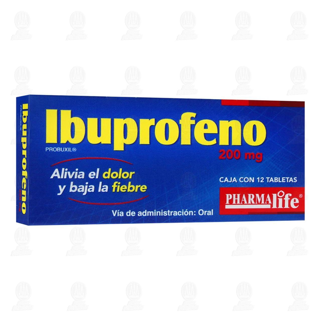 Comprar Ibuprofeno 200mg 12 Tabletas Pharmalife en Farmacias Guadalajara