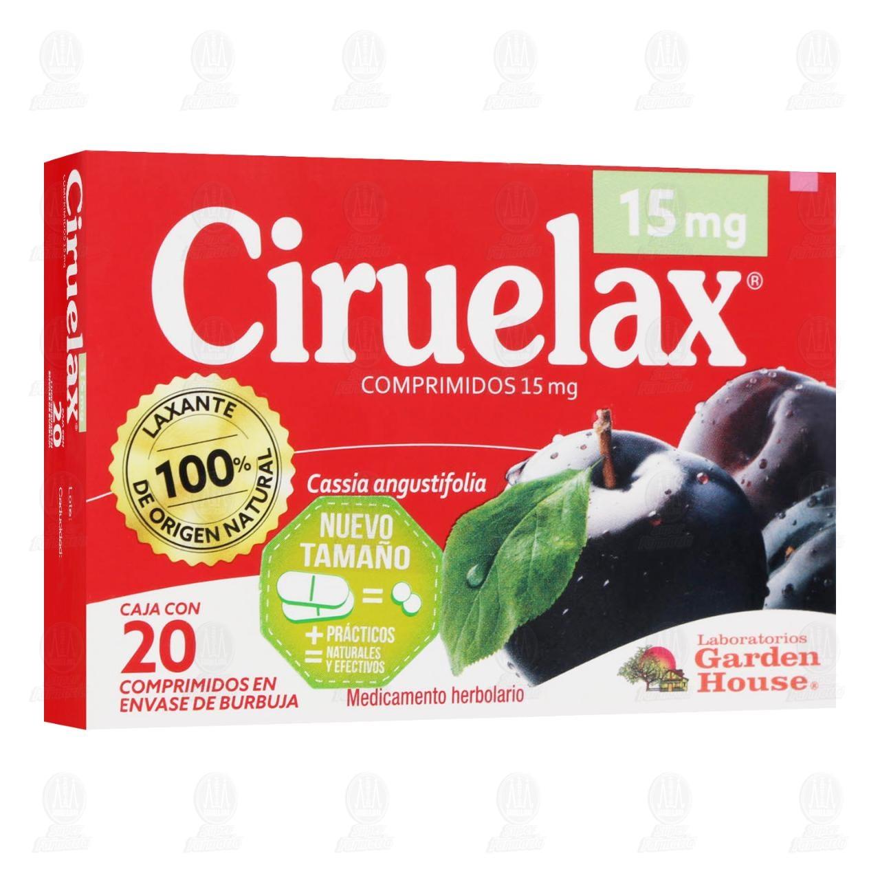 Comprar Ciruelax 15mg 20 Comprimidos en Farmacias Guadalajara