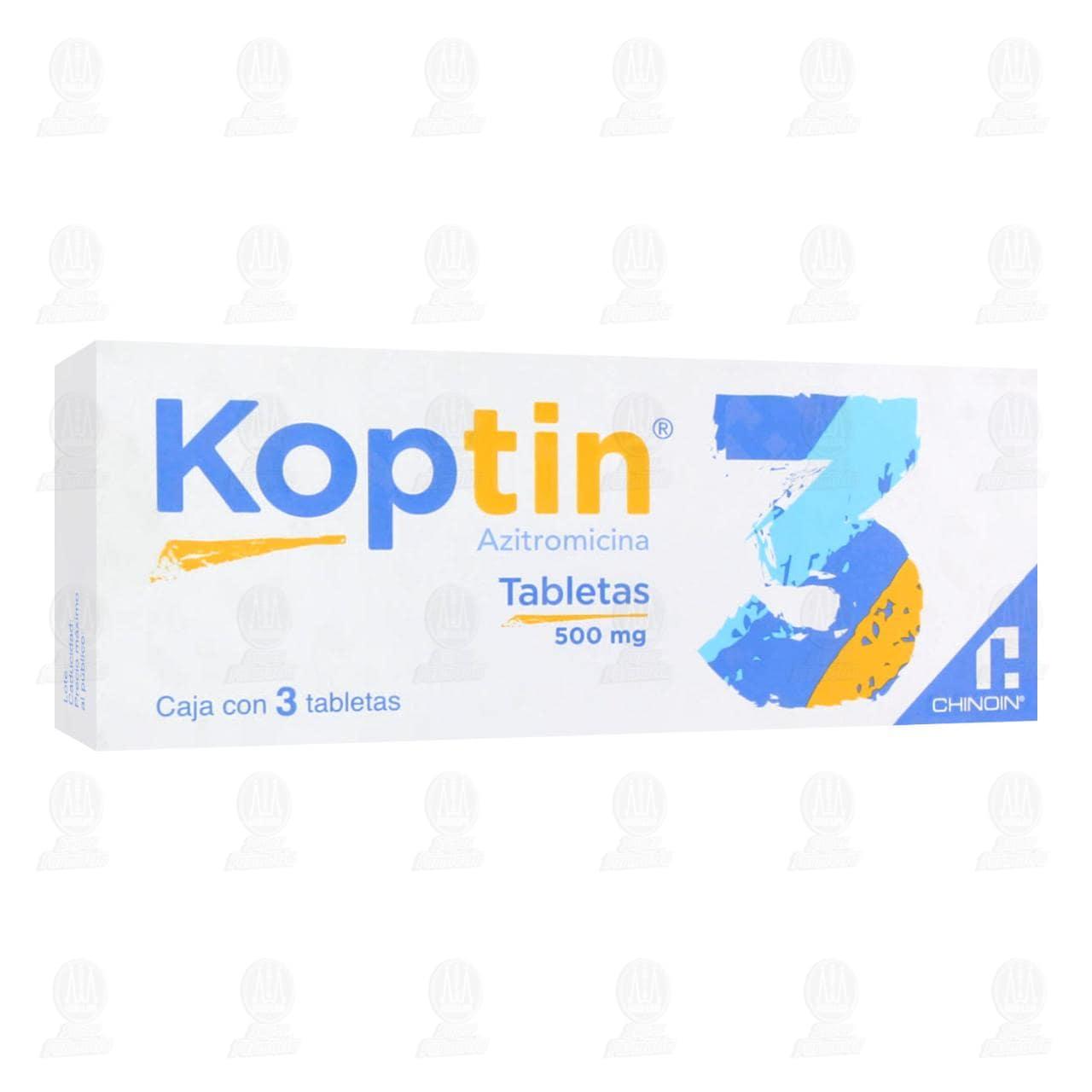 Comprar Koptin 500mg 3 Tabletas en Farmacias Guadalajara