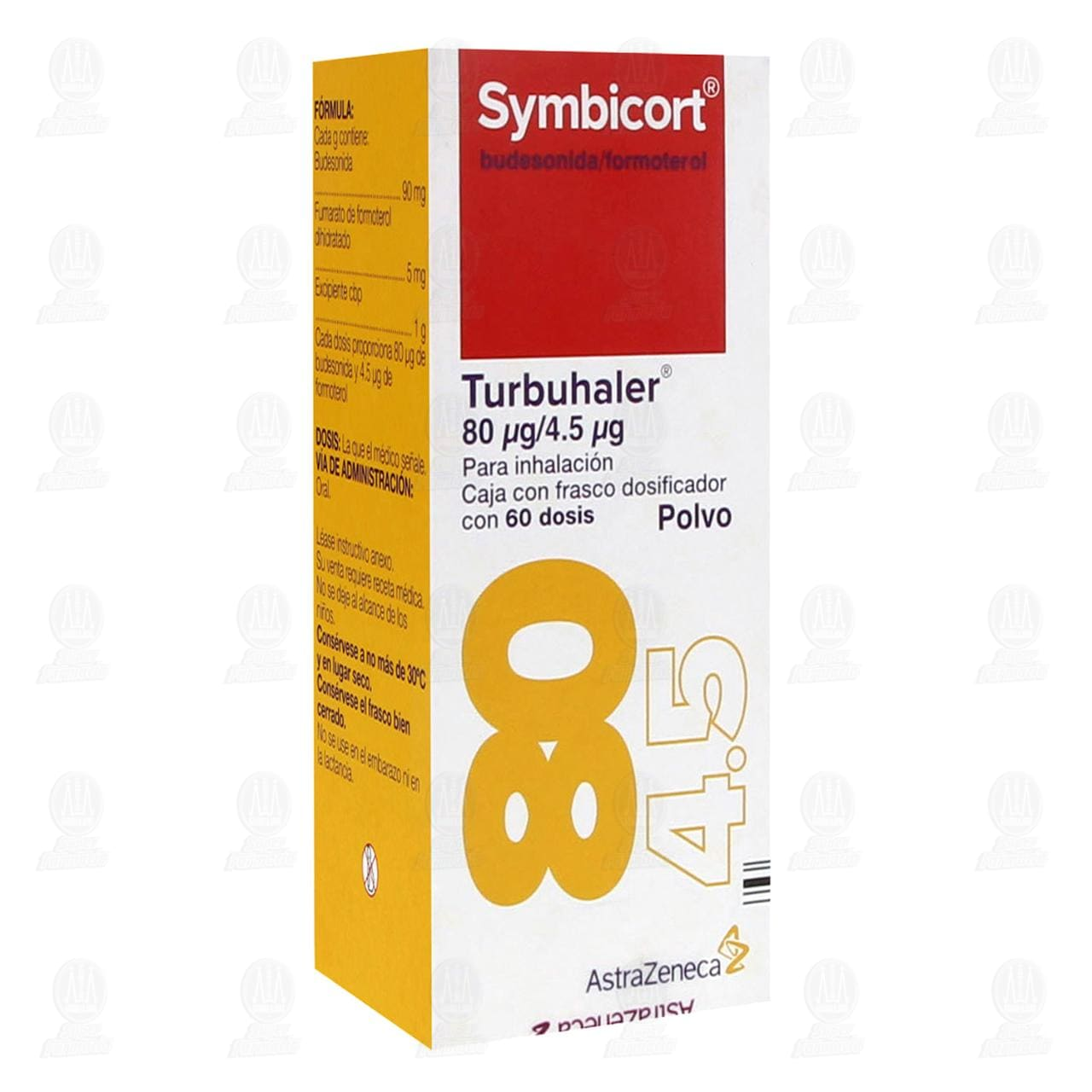 Comprar Symbicort Turbuhaler Polvo 80mcg/4.5mcg 60 Dosis en Farmacias Guadalajara