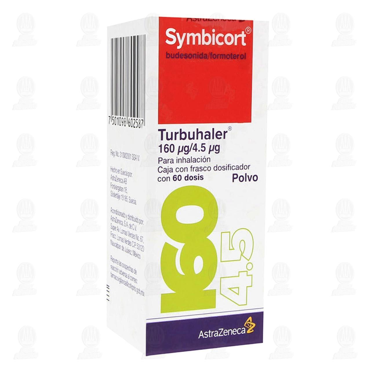 Comprar Symbicort Turbuhaler Polvo 160mcg/4.5mcg 60 Dosis en Farmacias Guadalajara