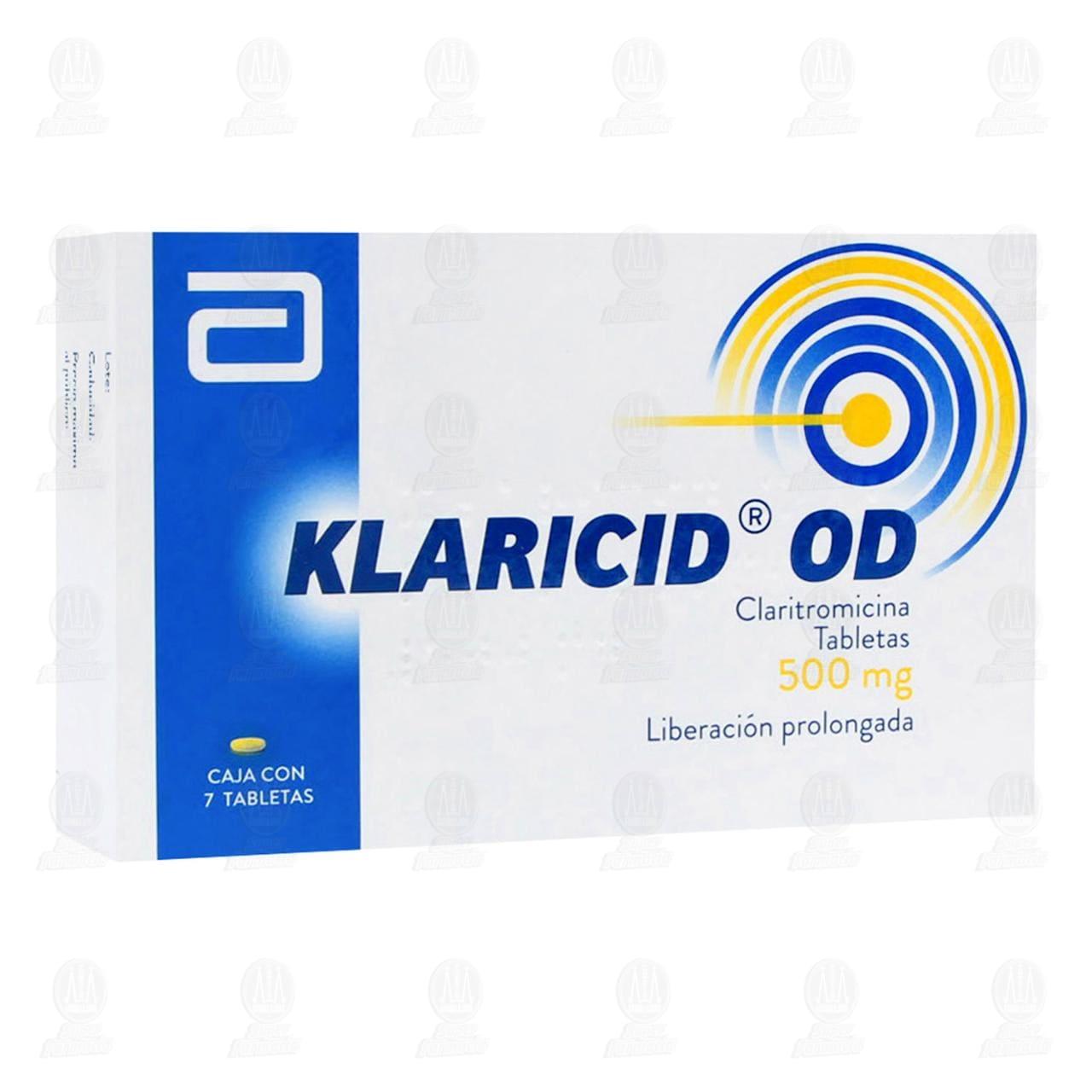 Comprar Klaricid OD 500mg 7 Tabletas en Farmacias Guadalajara
