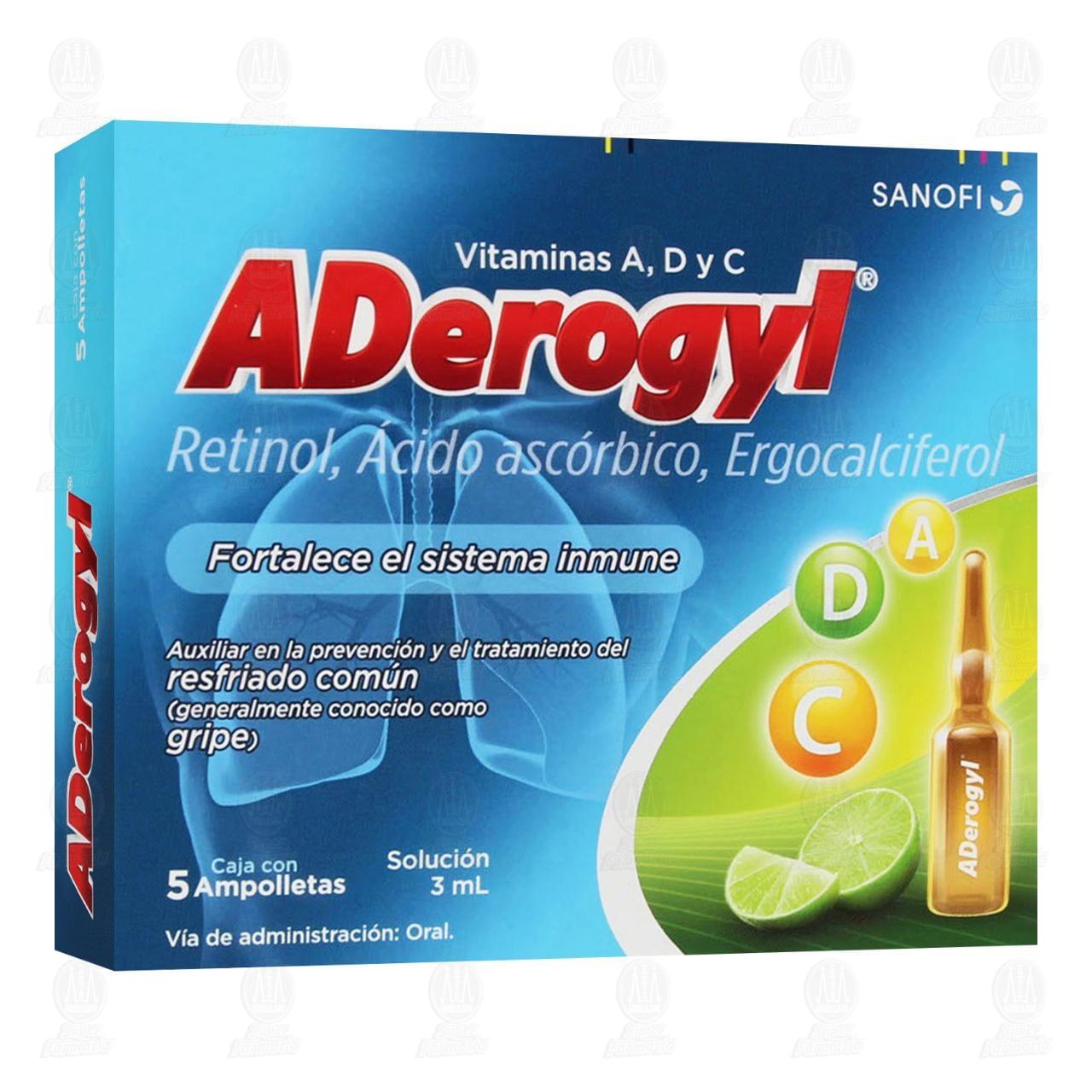 Aderogyl Prevención de la Gripa 5 Ampolletas 3ml