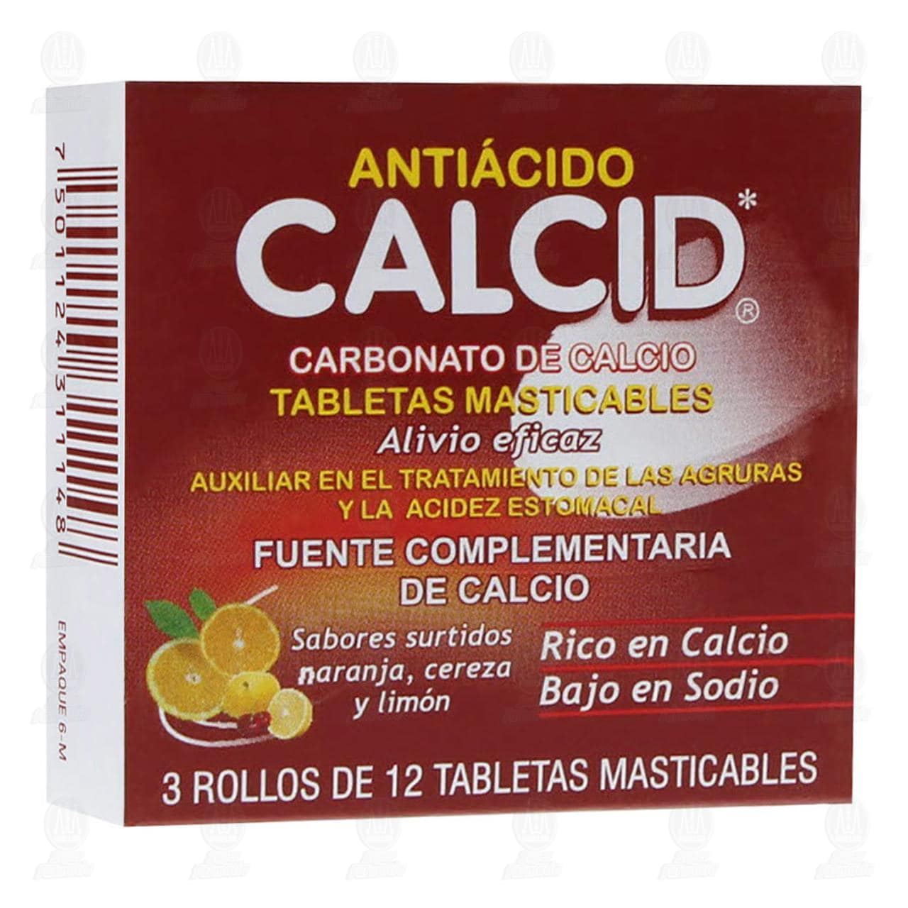 Comprar Calcid Sabores Surtidos 3 Rollos 12 Tabletas en Farmacias Guadalajara
