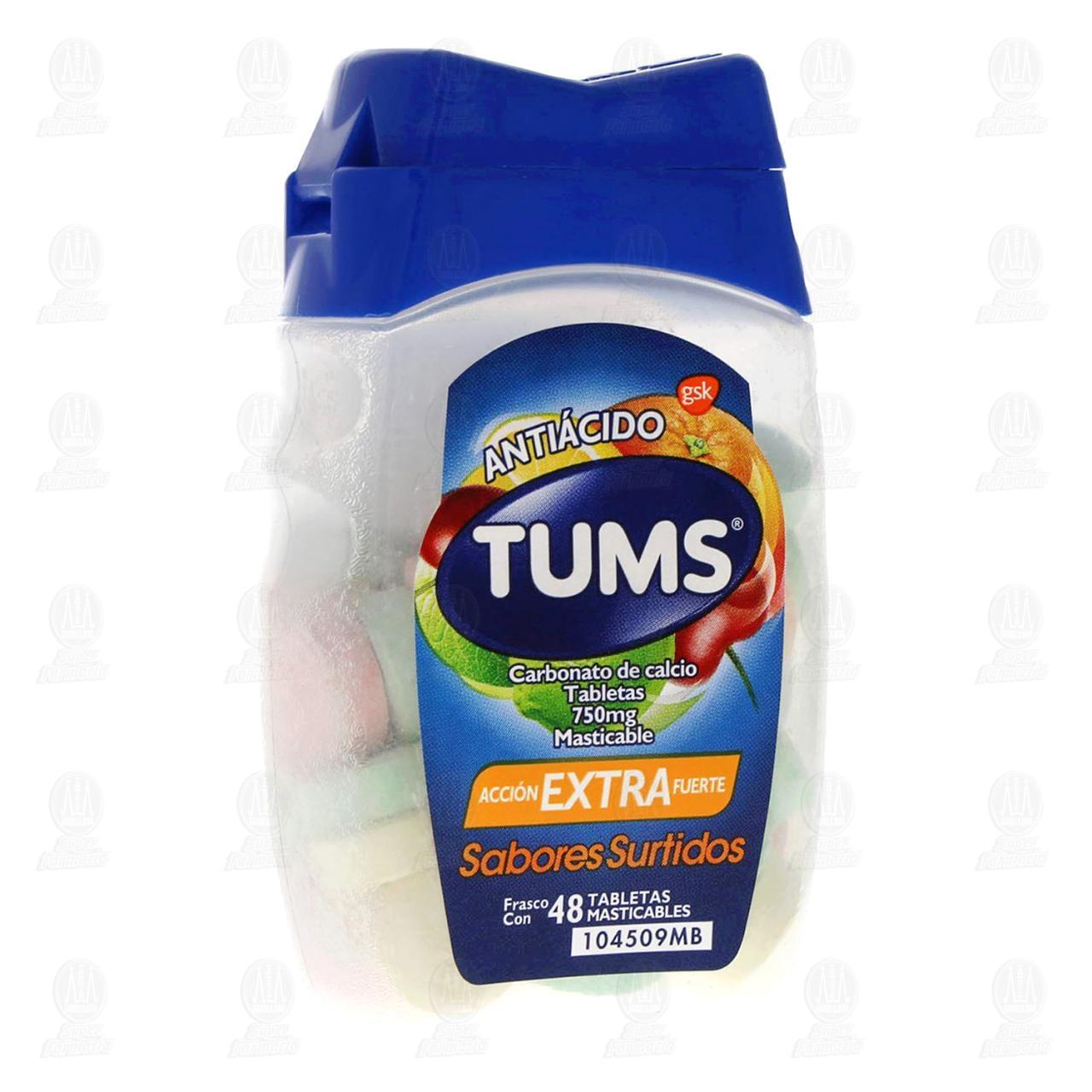 Comprar Tums Extra Surtido 48 Tabletas Frasco en Farmacias Guadalajara