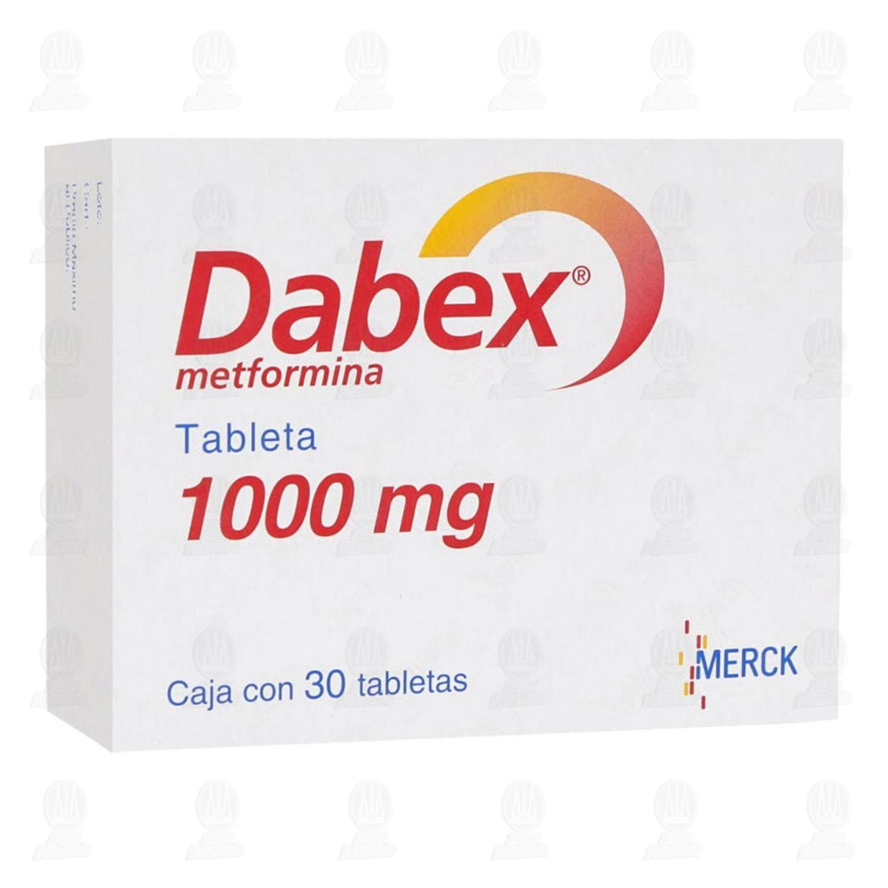 Comprar Dabex 1000mg 30 Tabletas en Farmacias Guadalajara