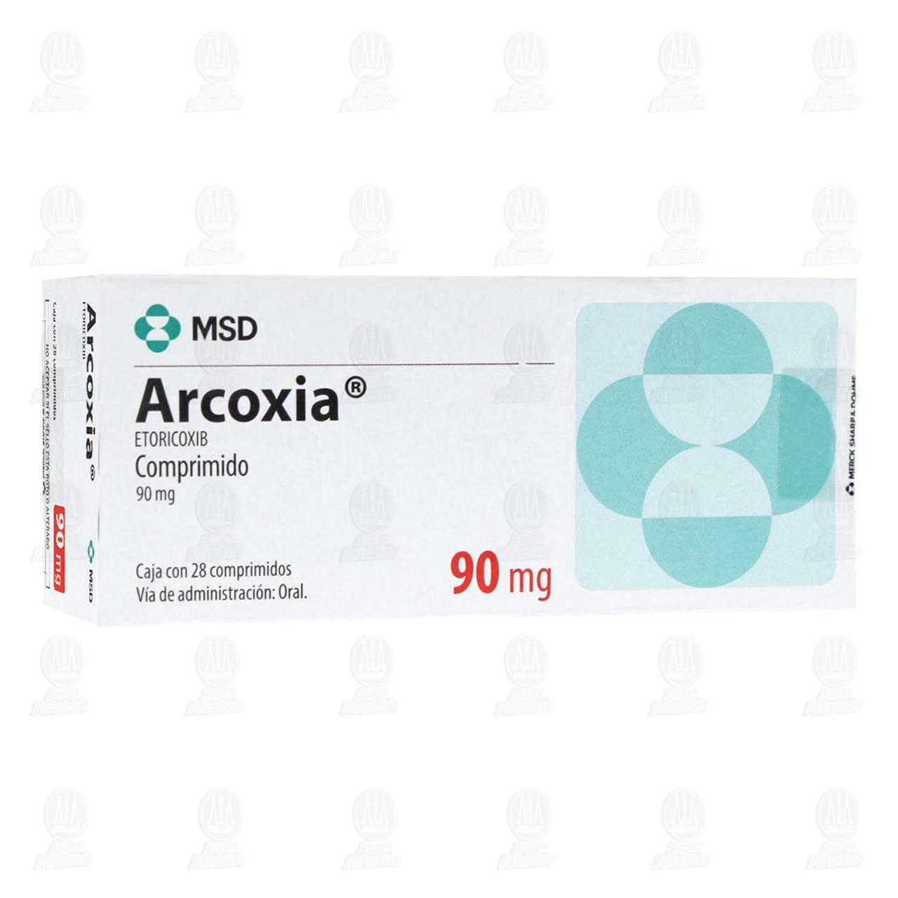 Comprar Arcoxia 90mg 28 Comprimidos en Farmacias Guadalajara