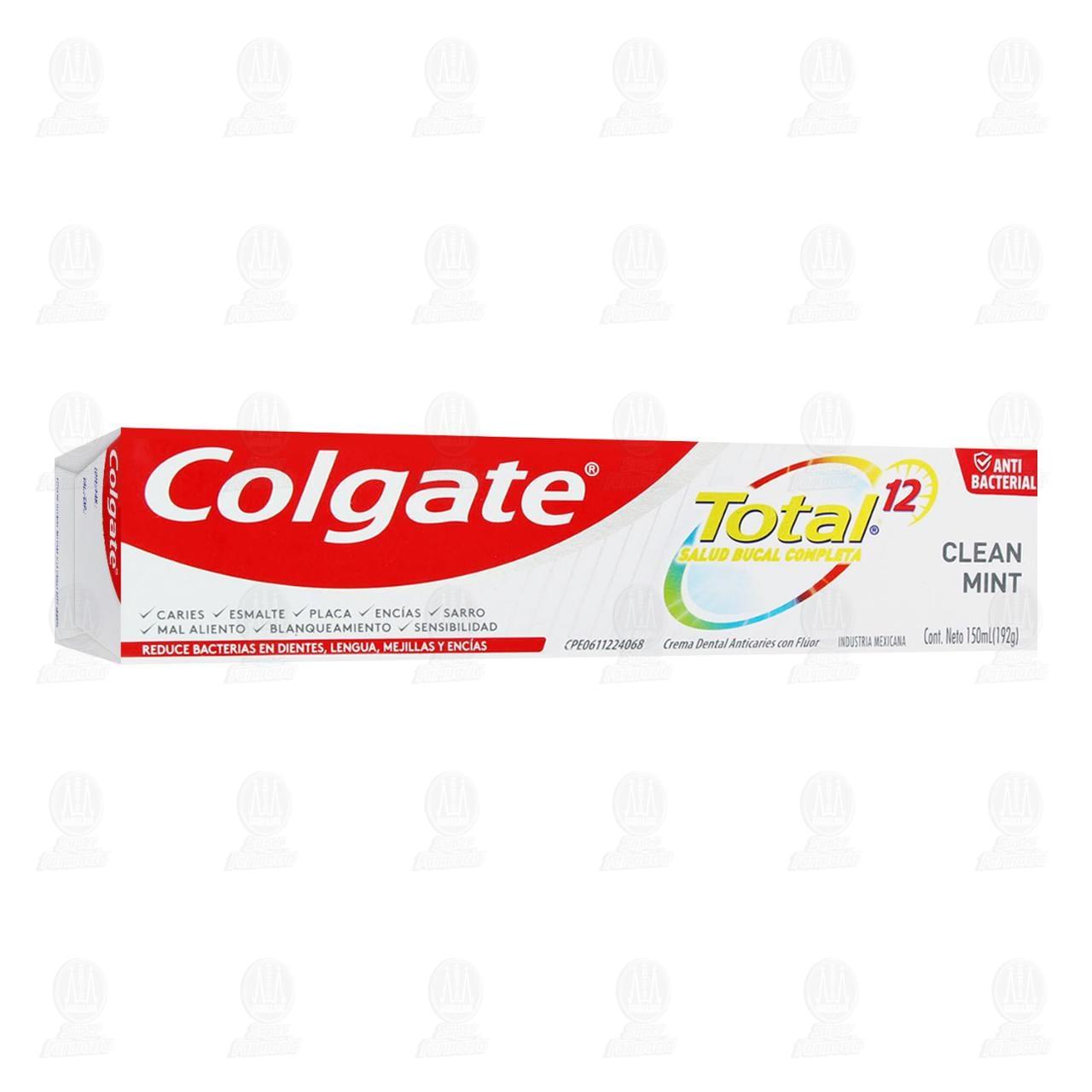 Comprar Pasta Dental Colgate Total 12 Clean Mint, 150 ml. en Farmacias Guadalajara