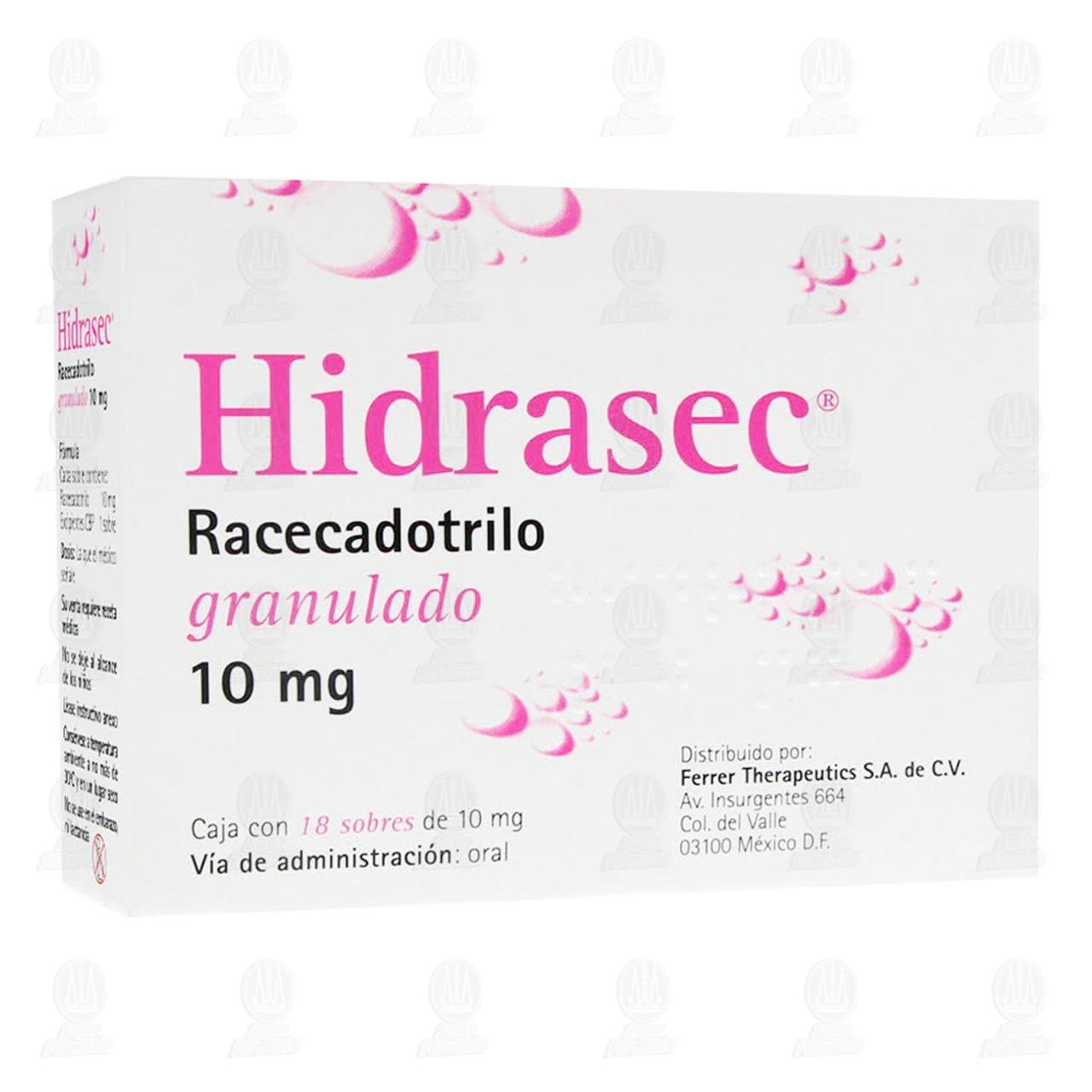 Comprar Hidrasec 10mg Suspensión 18 Sobres Granulado en Farmacias Guadalajara