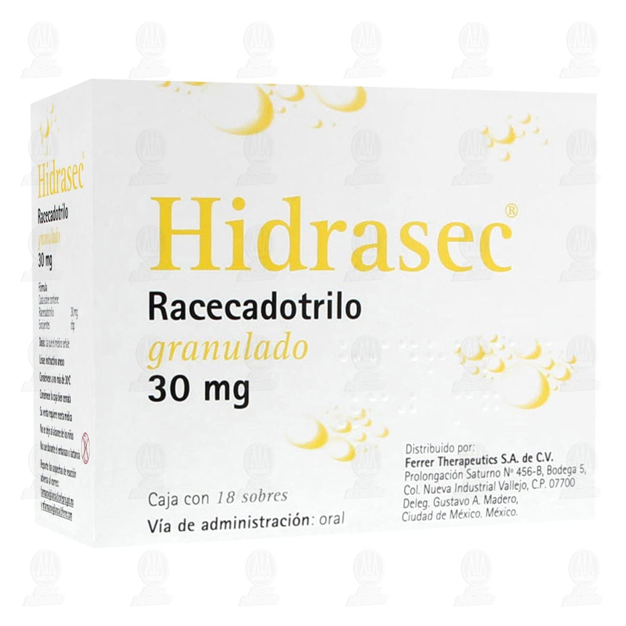 Comprar Hidrasec 30mg Suspensión 18 Sobres Granulado en Farmacias Guadalajara