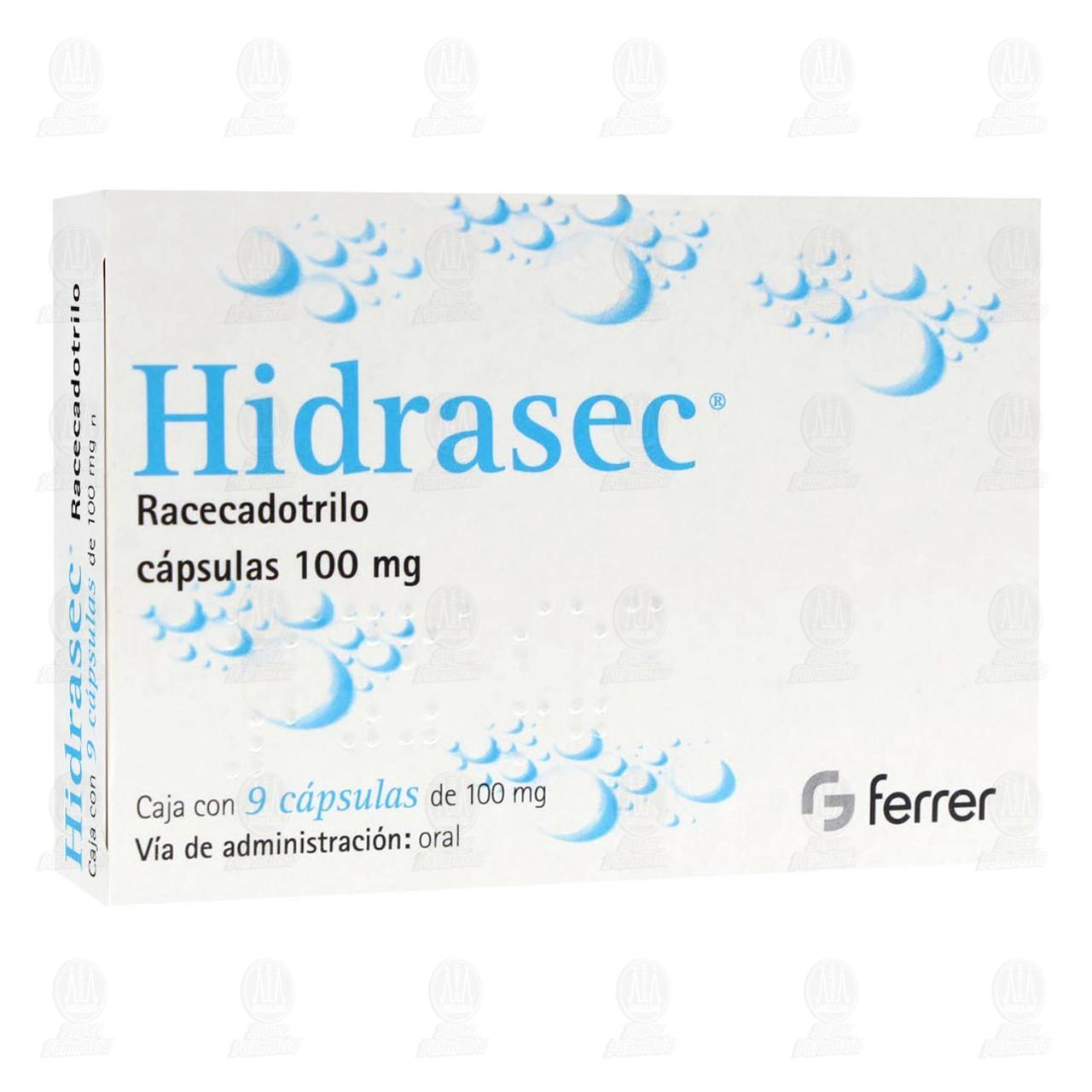 Comprar Hidrasec 100mg 9 Cápsulas en Farmacias Guadalajara
