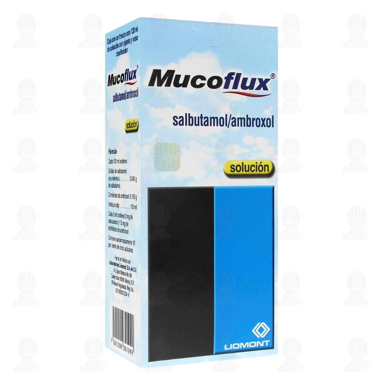 Comprar Mucoflux Solución 120ml en Farmacias Guadalajara