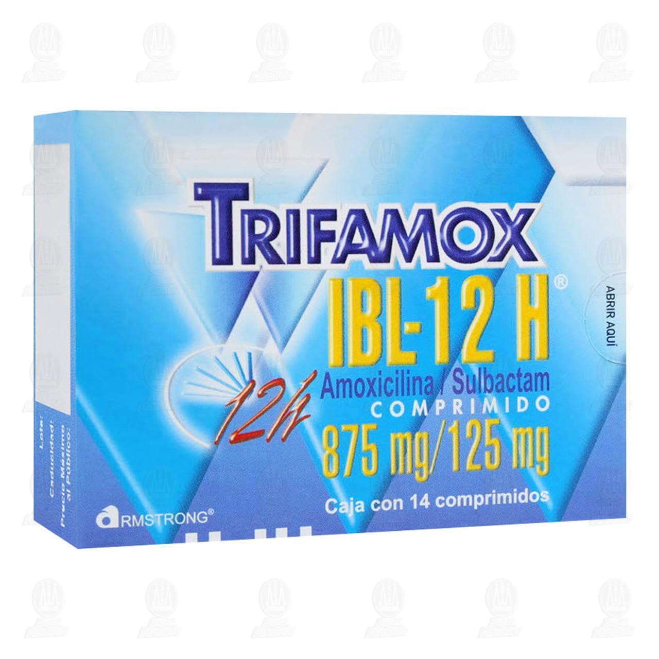 Comprar Trifamox IBL-12 H 875mg/125mg 14 Comprimidos en Farmacias Guadalajara