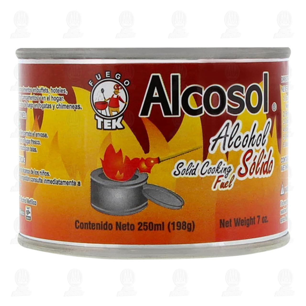 Alcohol Alcosol Sólido, 250 ml.