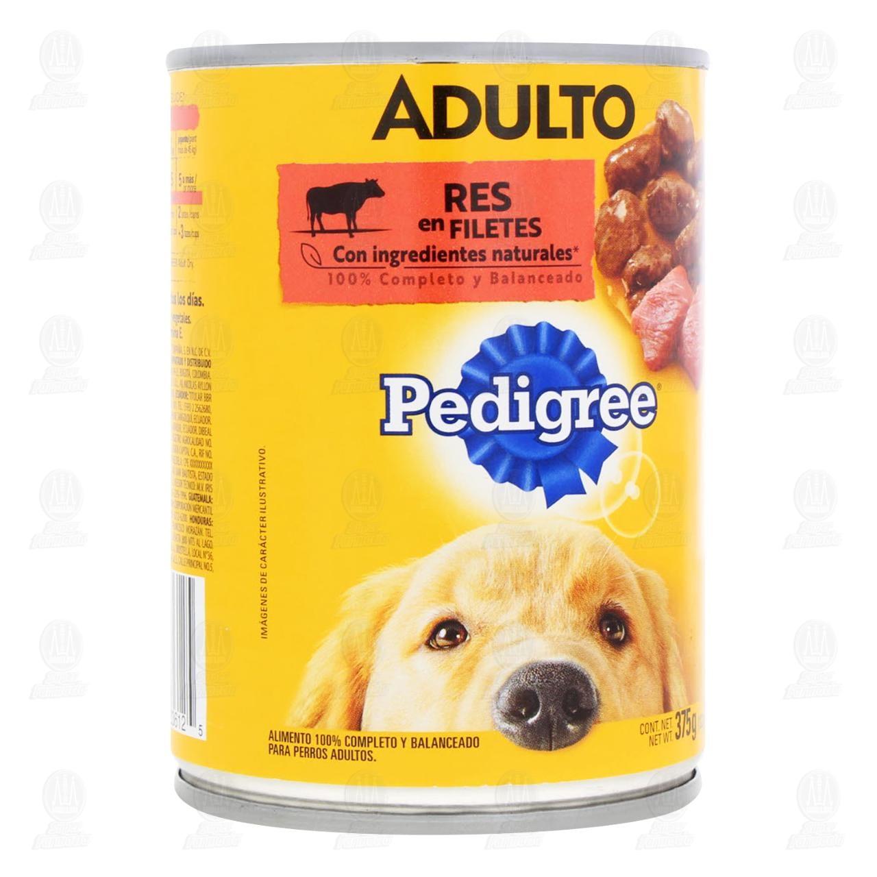 Res en Filetes Pedigree para Perro Adulto, 375 gr.