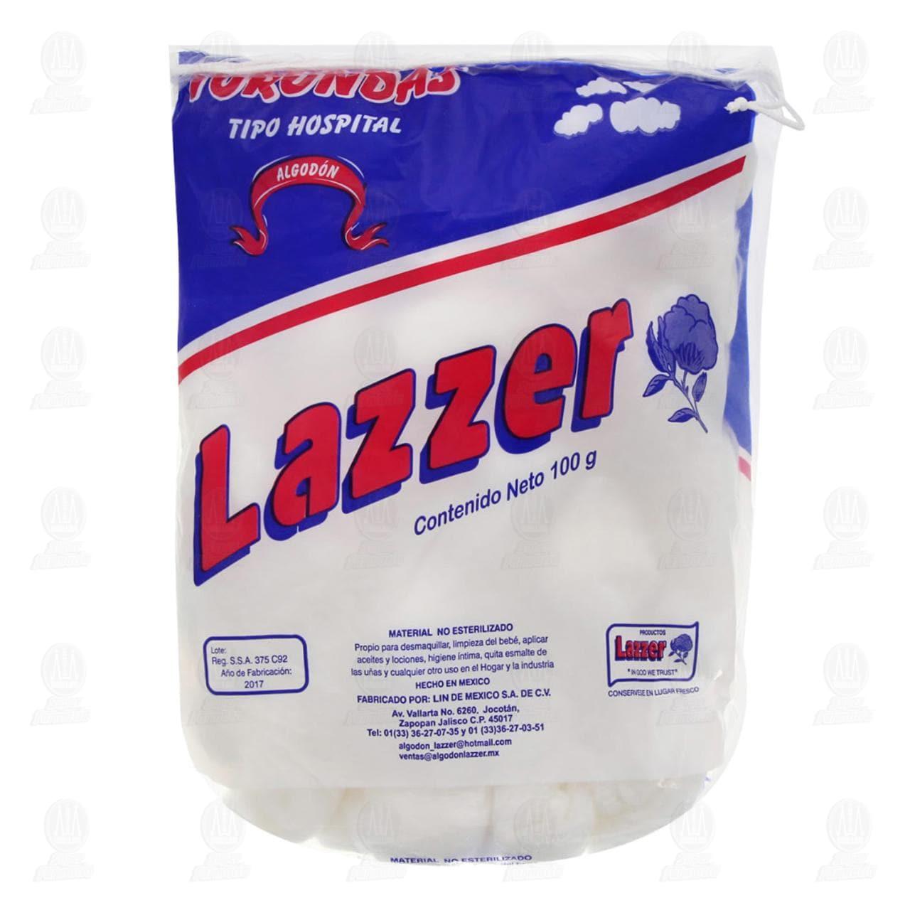 Comprar Algodón Lazzer 100gr Torundas en Farmacias Guadalajara