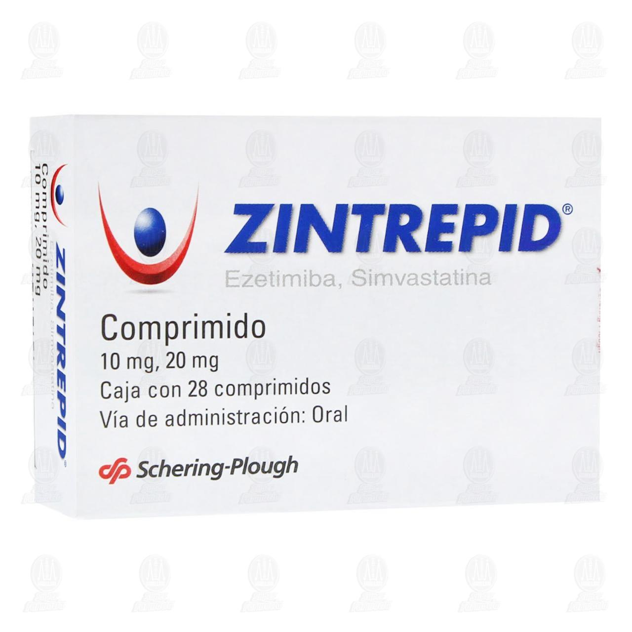 Comprar Zintrepid 10mg/20mg 28 Comprimidos en Farmacias Guadalajara
