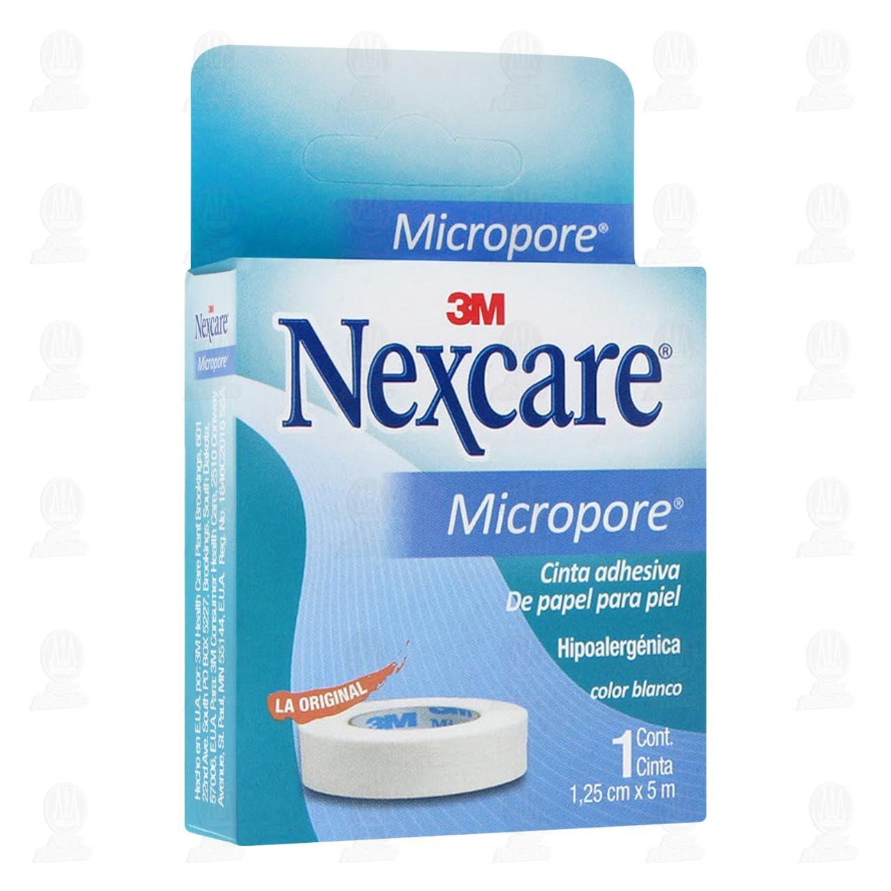 Comprar 3M Nexcare Cinta Adhesiva Micropore 1.25cm x 5m Color Blanco 1pz en Farmacias Guadalajara